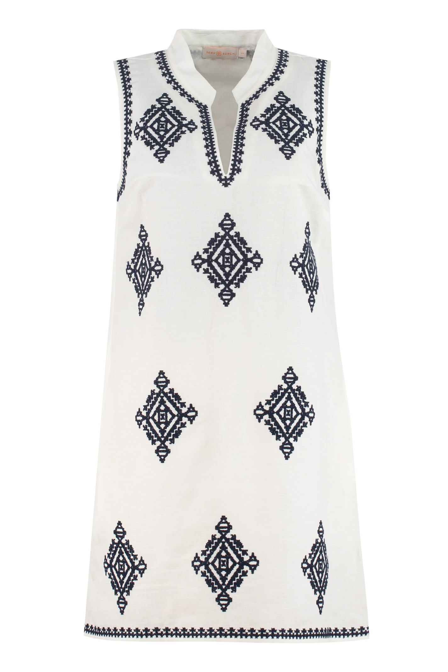 Buy Tory Burch Celeste Embroidered Mini Dress online, shop Tory Burch with free shipping