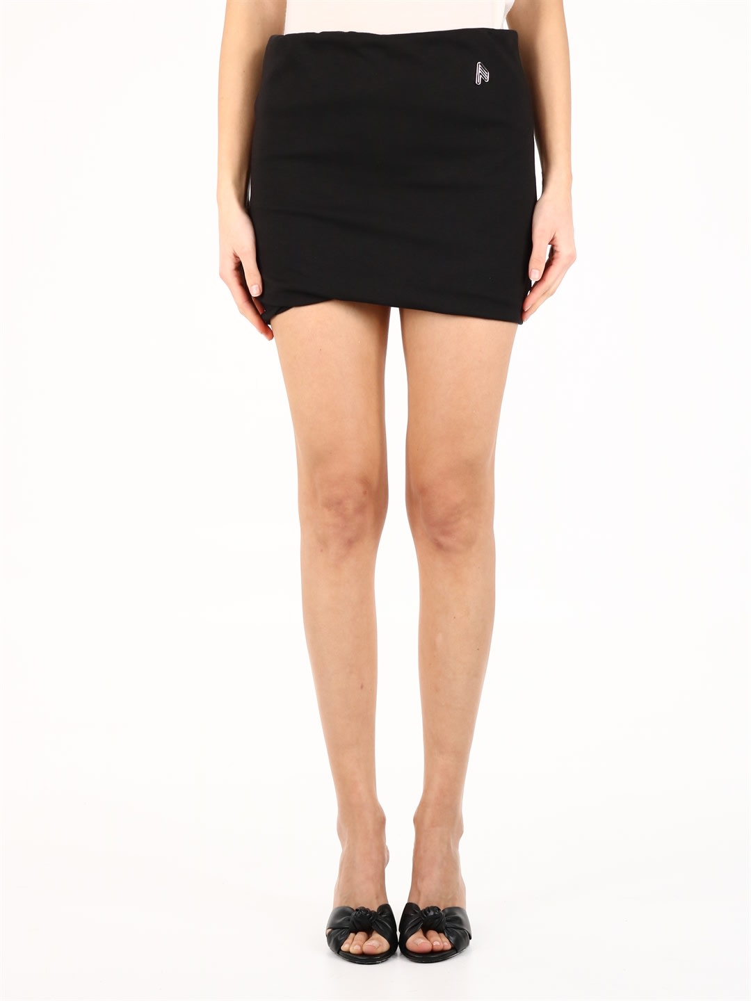 Attico Cottons COTTON MINI SKIRT BLACK