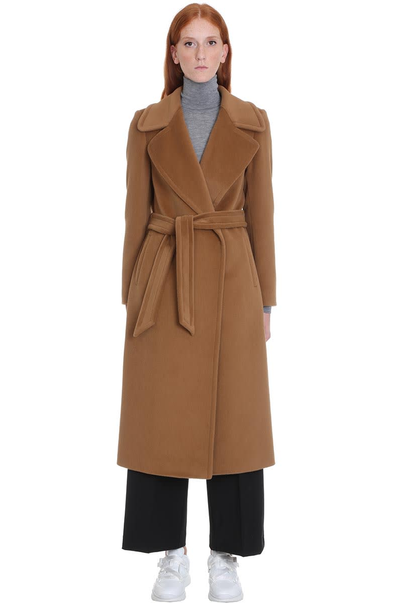 Tagliatore 0205 Molly Coat In Leather Color Cashmere And Wool