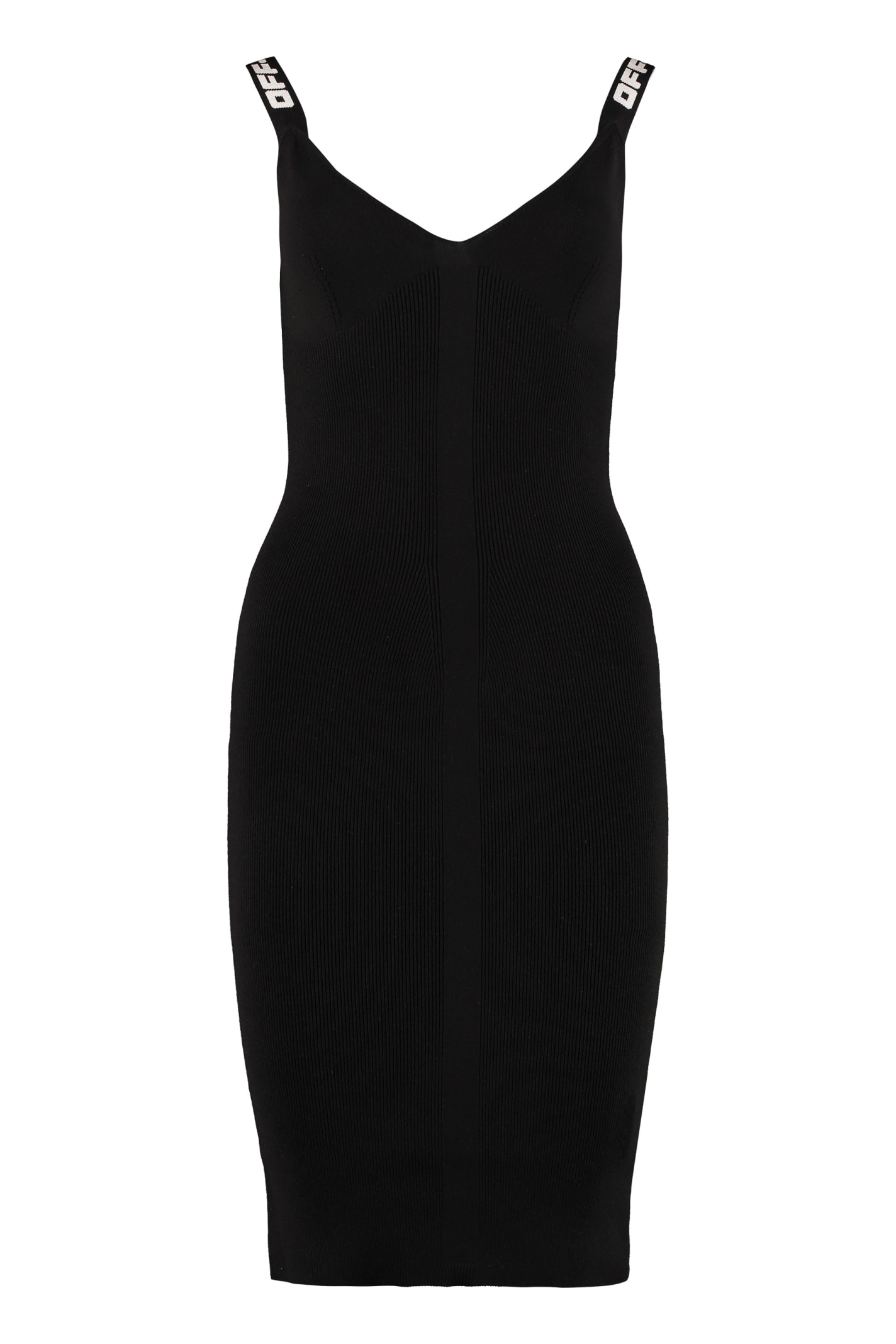 Buy Off-White Jersey Sheath Dress online, shop Off-White with free shipping