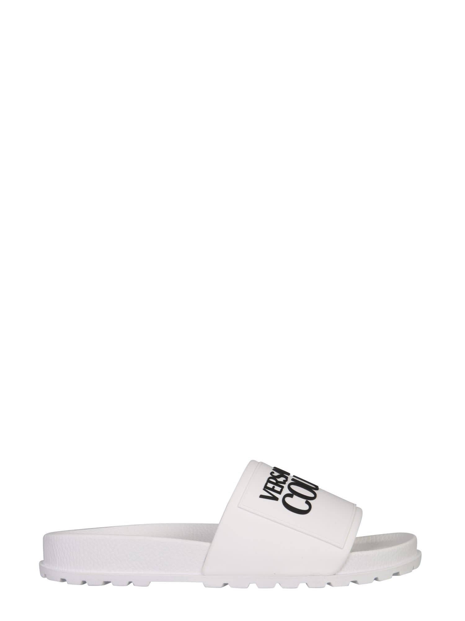 Versace Jeans Couture Low heels SLIDE SANDALS WITH LOGO