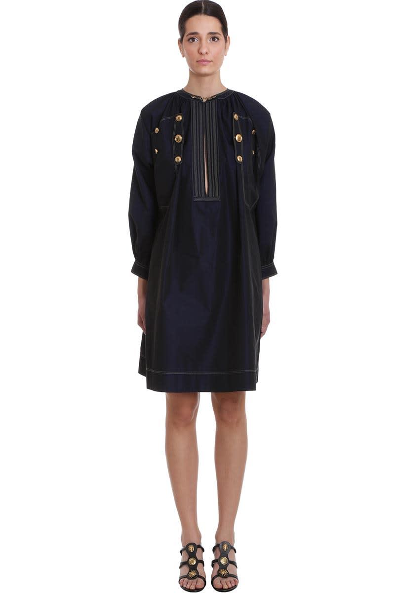 Buy Givenchy Dress In Blue Polyester online, shop Givenchy with free shipping