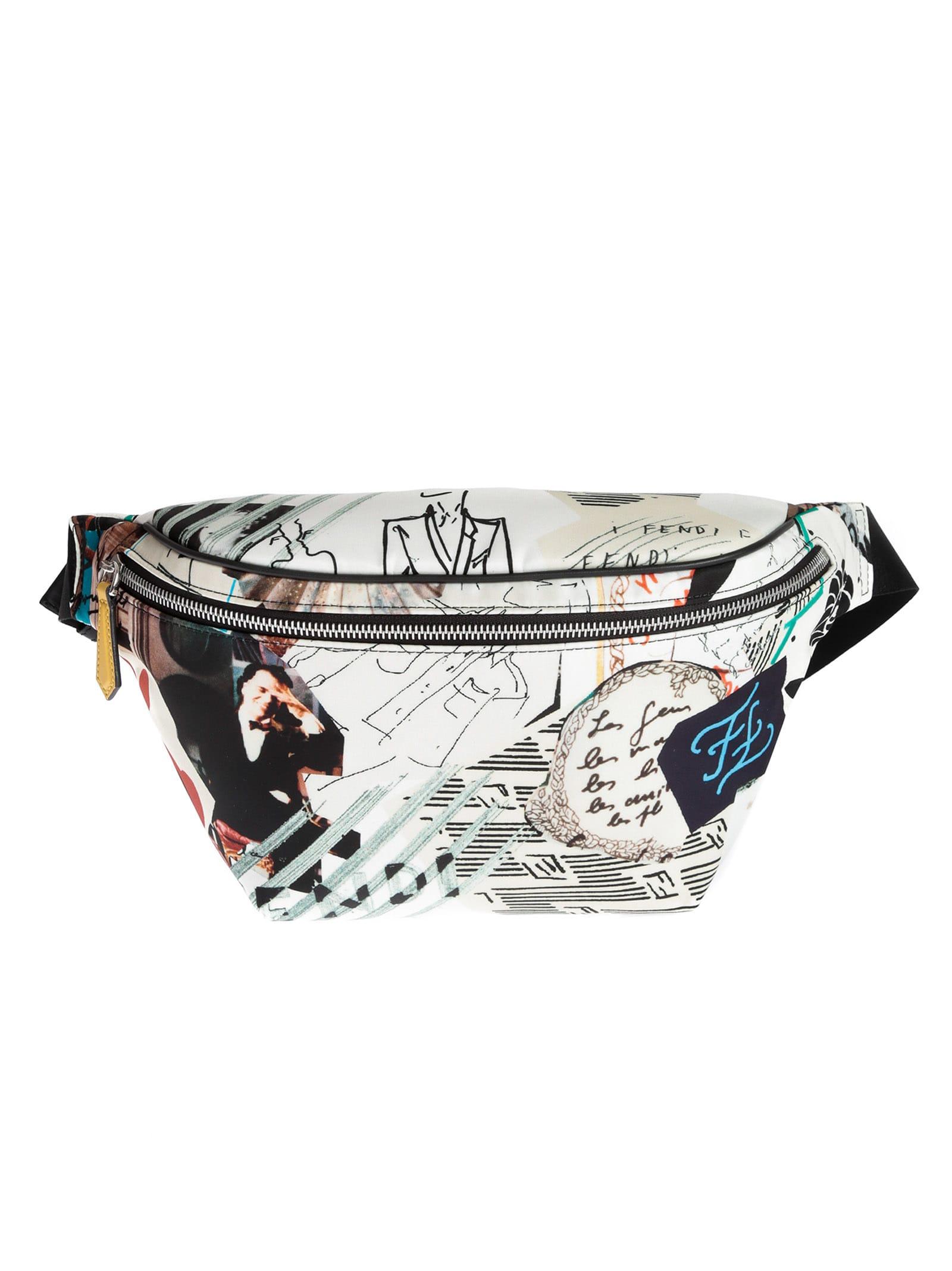 répliques Meilleure vente Style classique Fendi Karl Collage Belt Bag