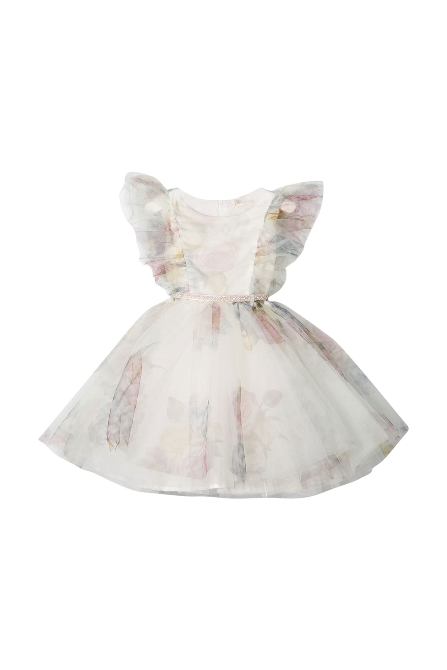 Buy Monnalisa Floral Tulle Dress online, shop Monnalisa with free shipping