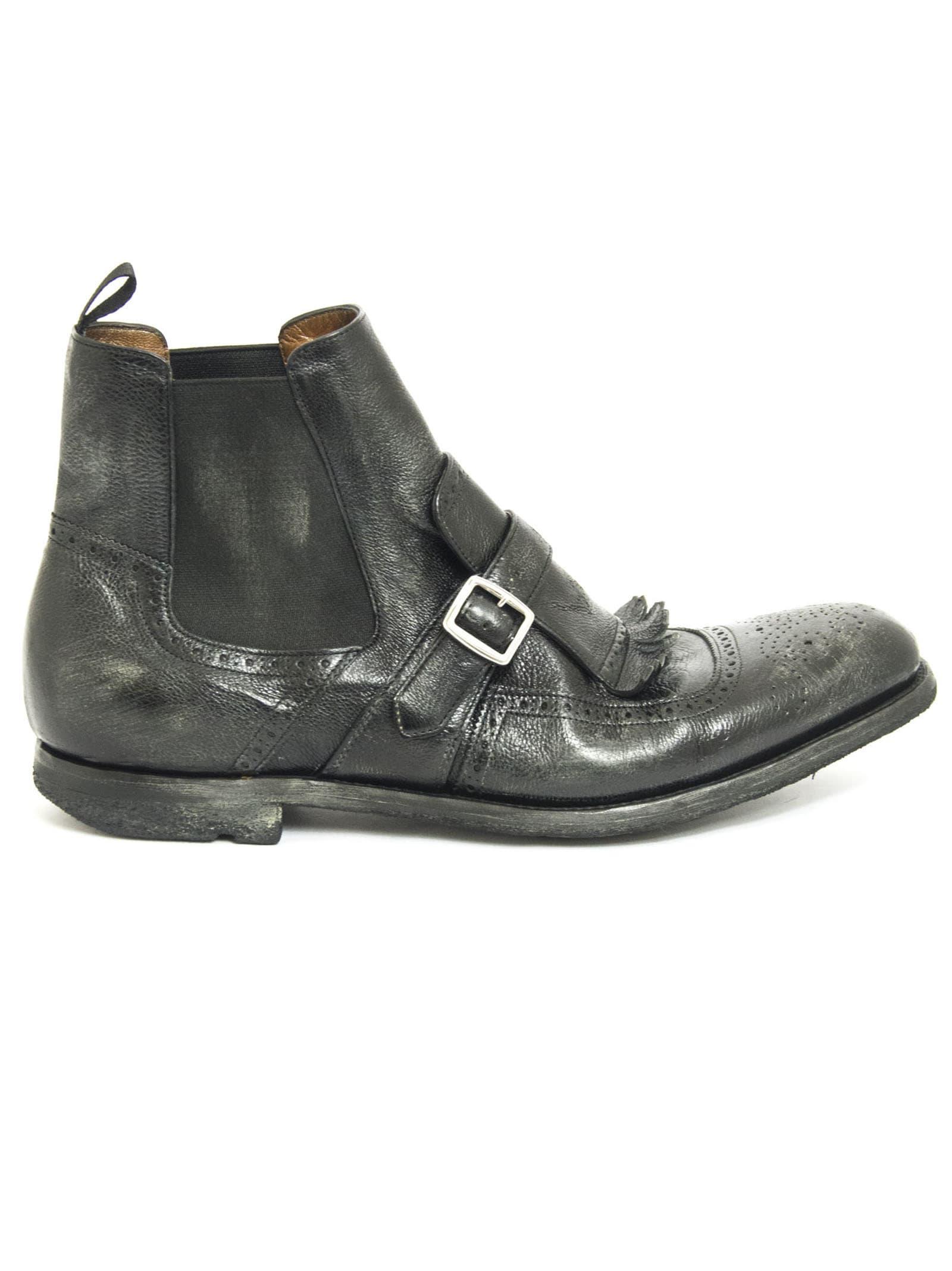 Churchs Shanghai Vintage Leather Chelsea Boot Black
