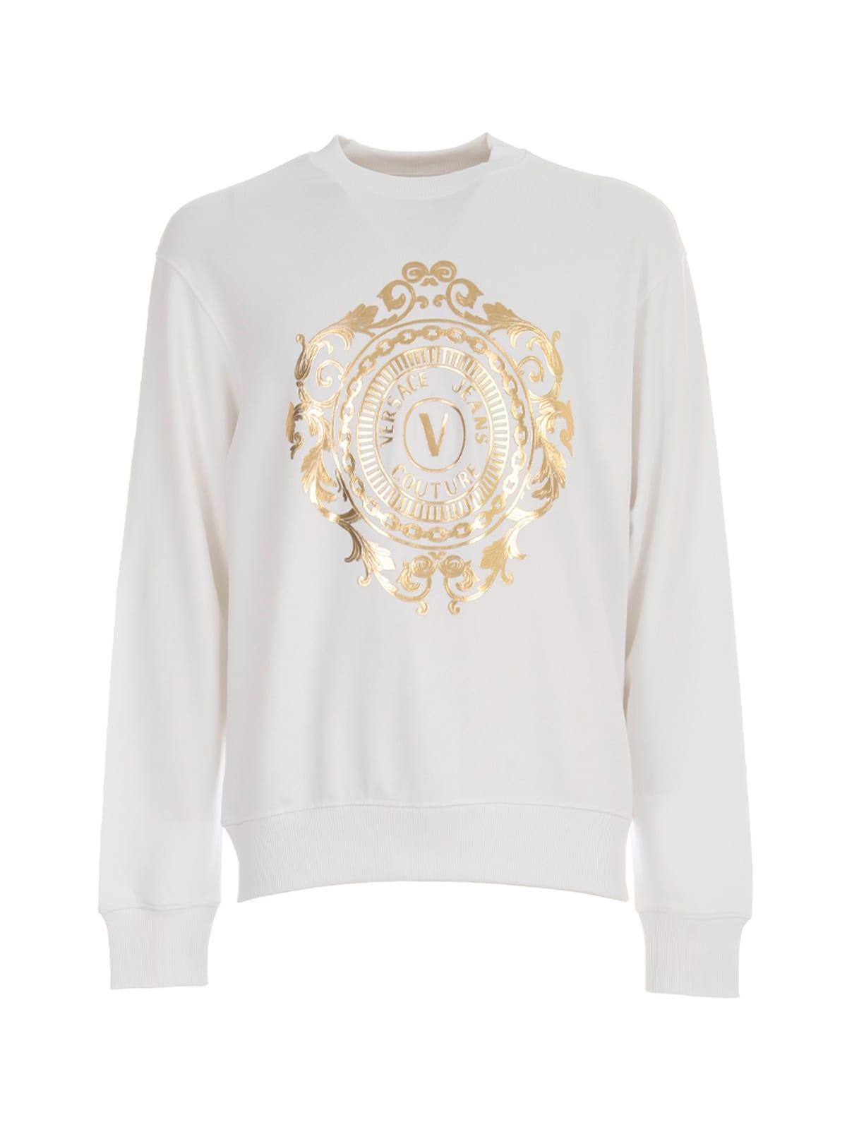 Versace Jeans Couture Vemblem Big 3d Gold Round Neck Sweatshirt
