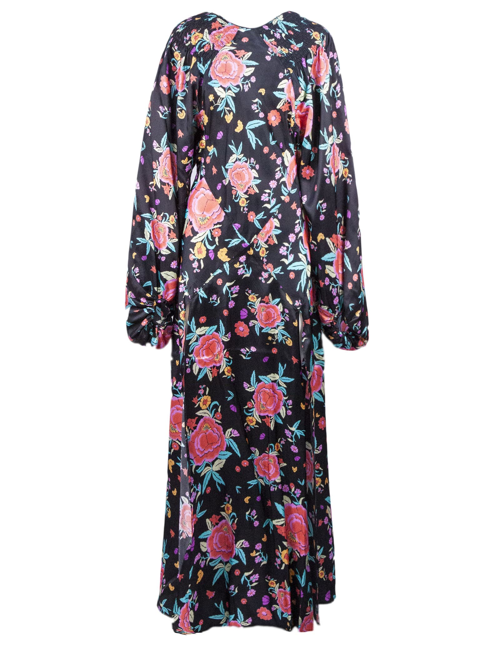 Buy Oriental Floral Print Dress online, shop The Attico with free shipping