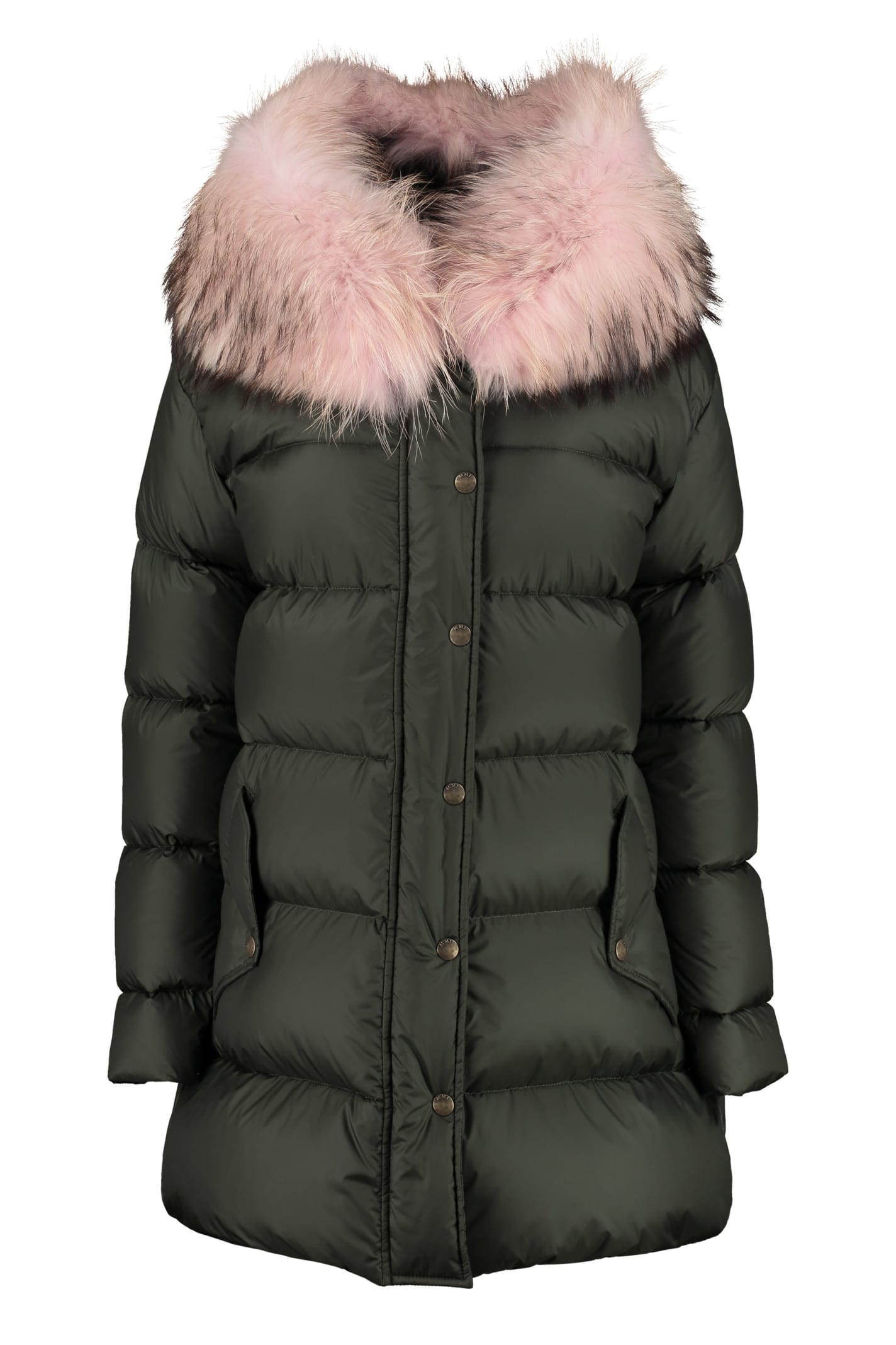 Mr & Mrs Italy Fur Hood Down Jacket