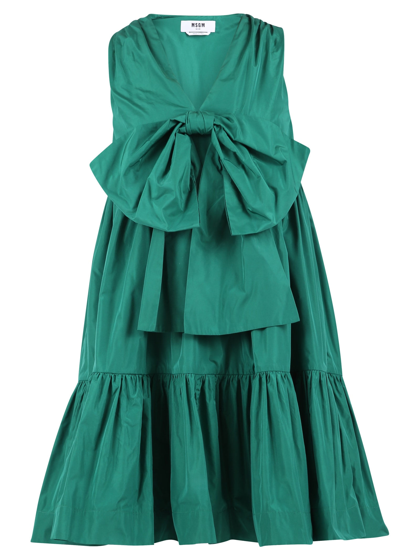 Buy MSGM Bow Insert Dress online, shop MSGM with free shipping