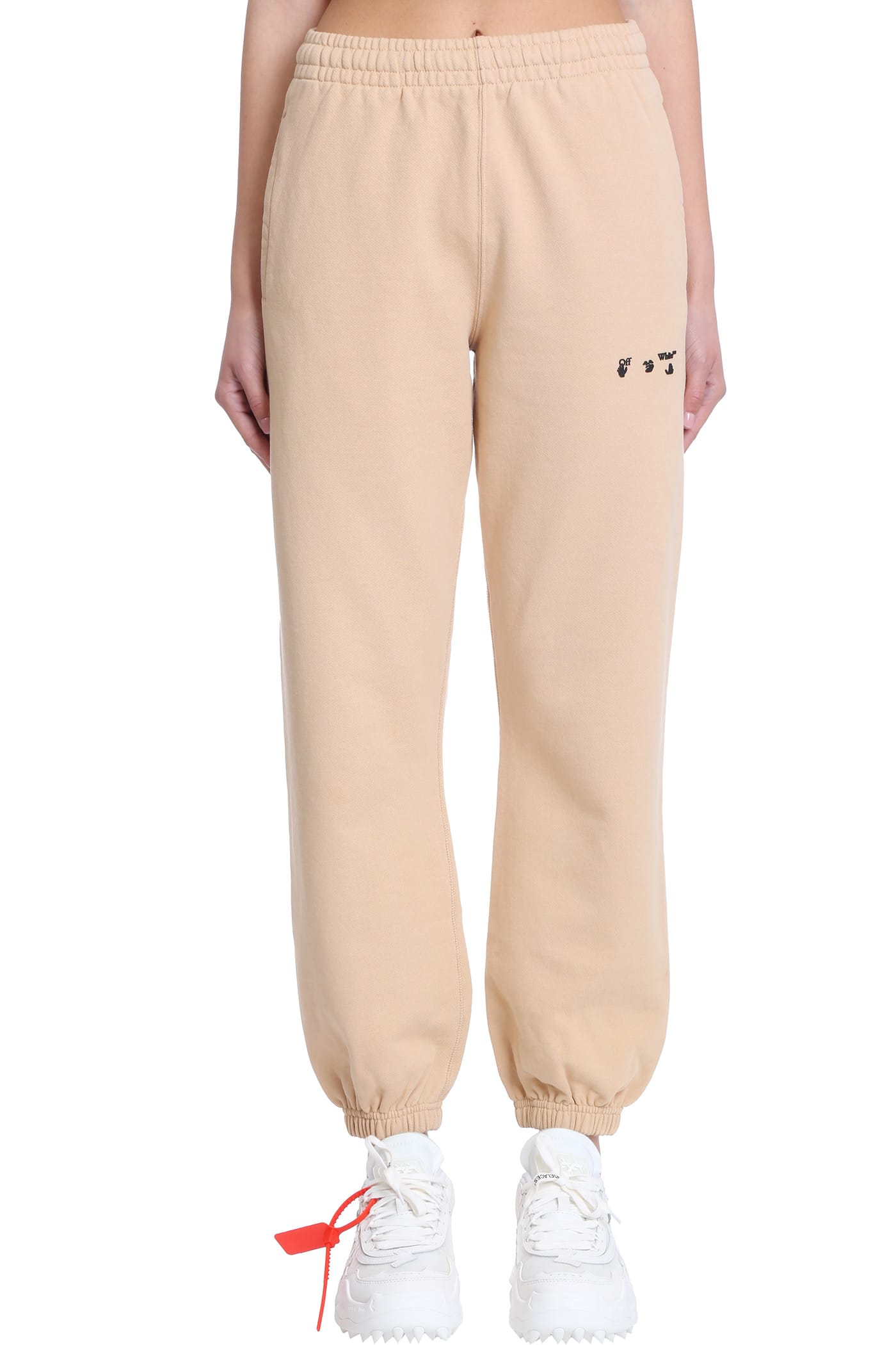 Off-White Clothing PANTS IN BEIGE COTTON