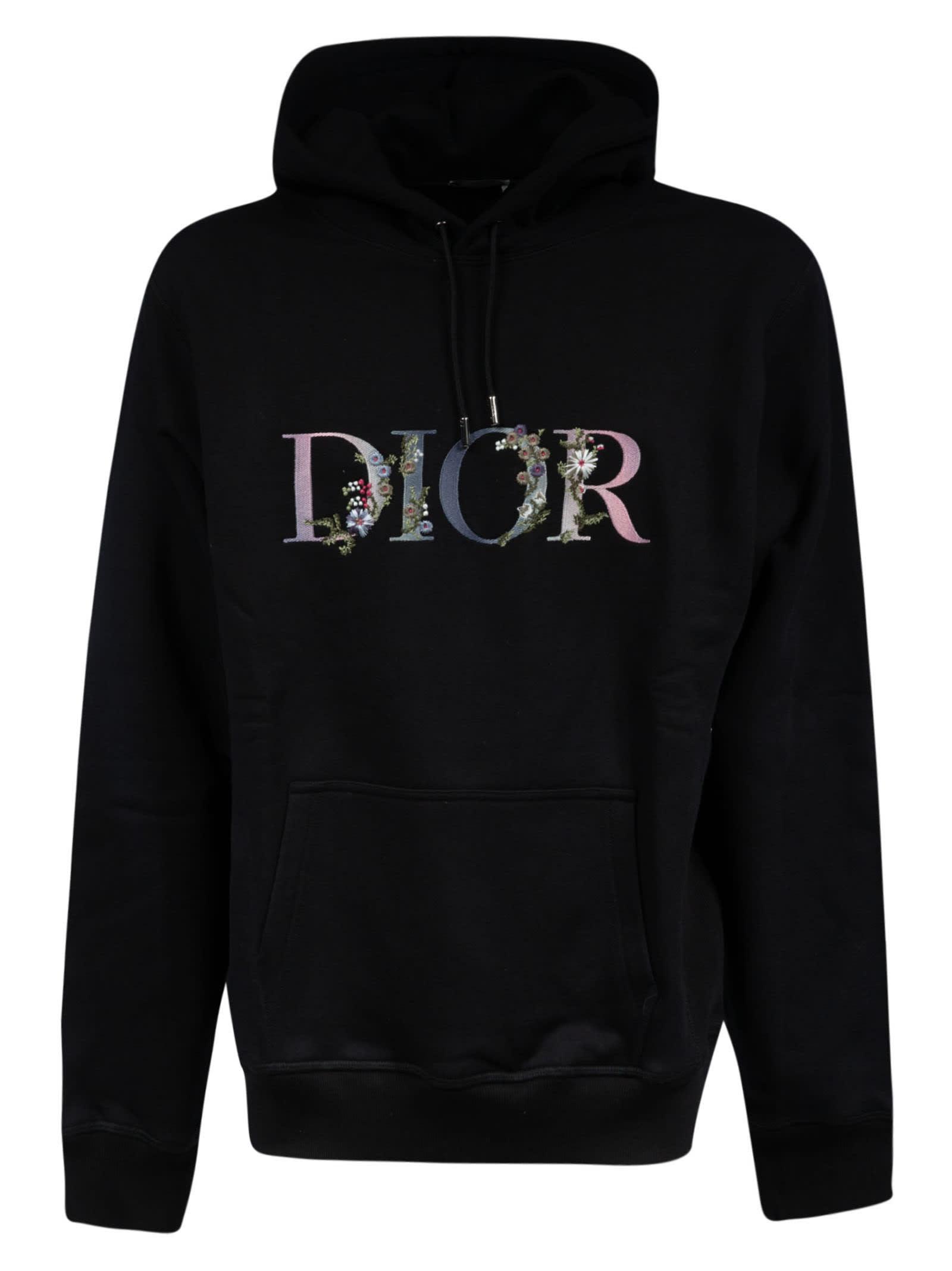 Dior FLORAL LOGO HOODIE