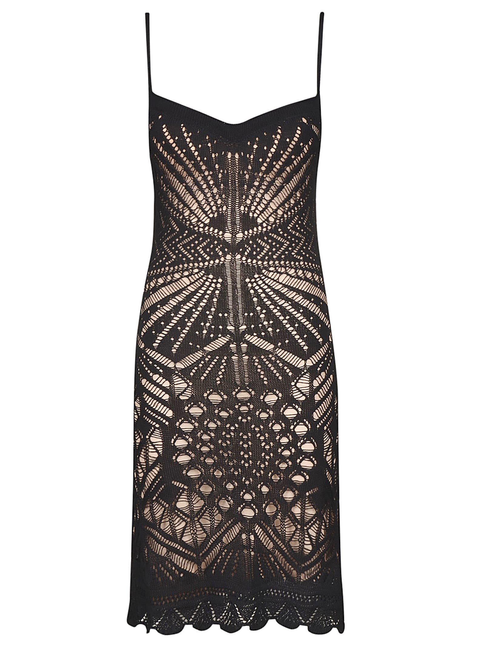 Buy Dsquared2 Perforated V-neck Dress online, shop Dsquared2 with free shipping