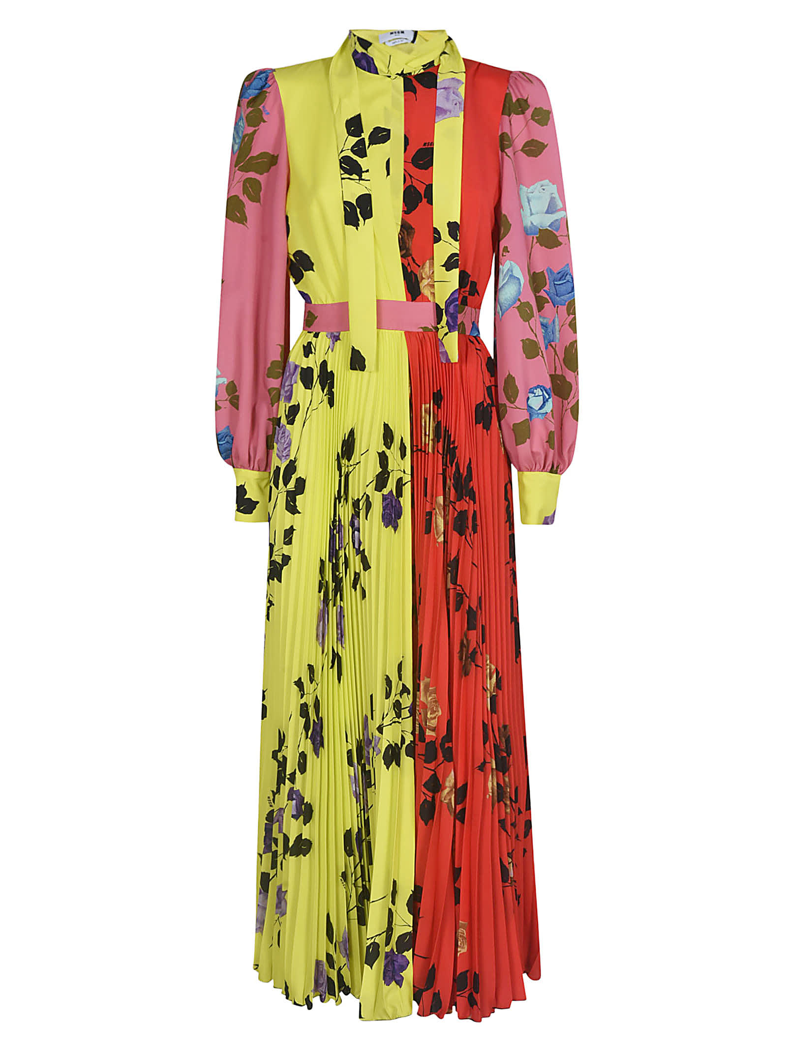 Buy MSGM Floral Print Belted Dress online, shop MSGM with free shipping