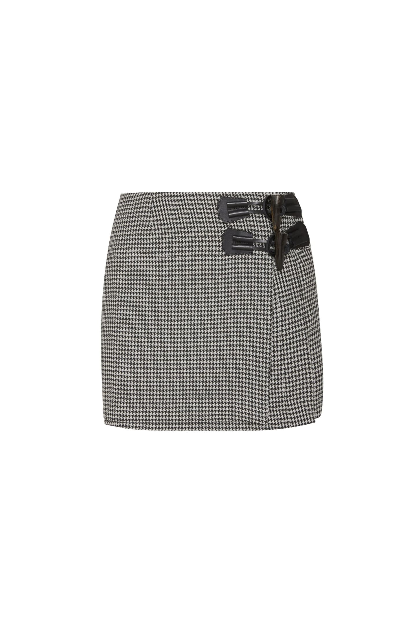 Dundee Skirt In Black Pied De Poule
