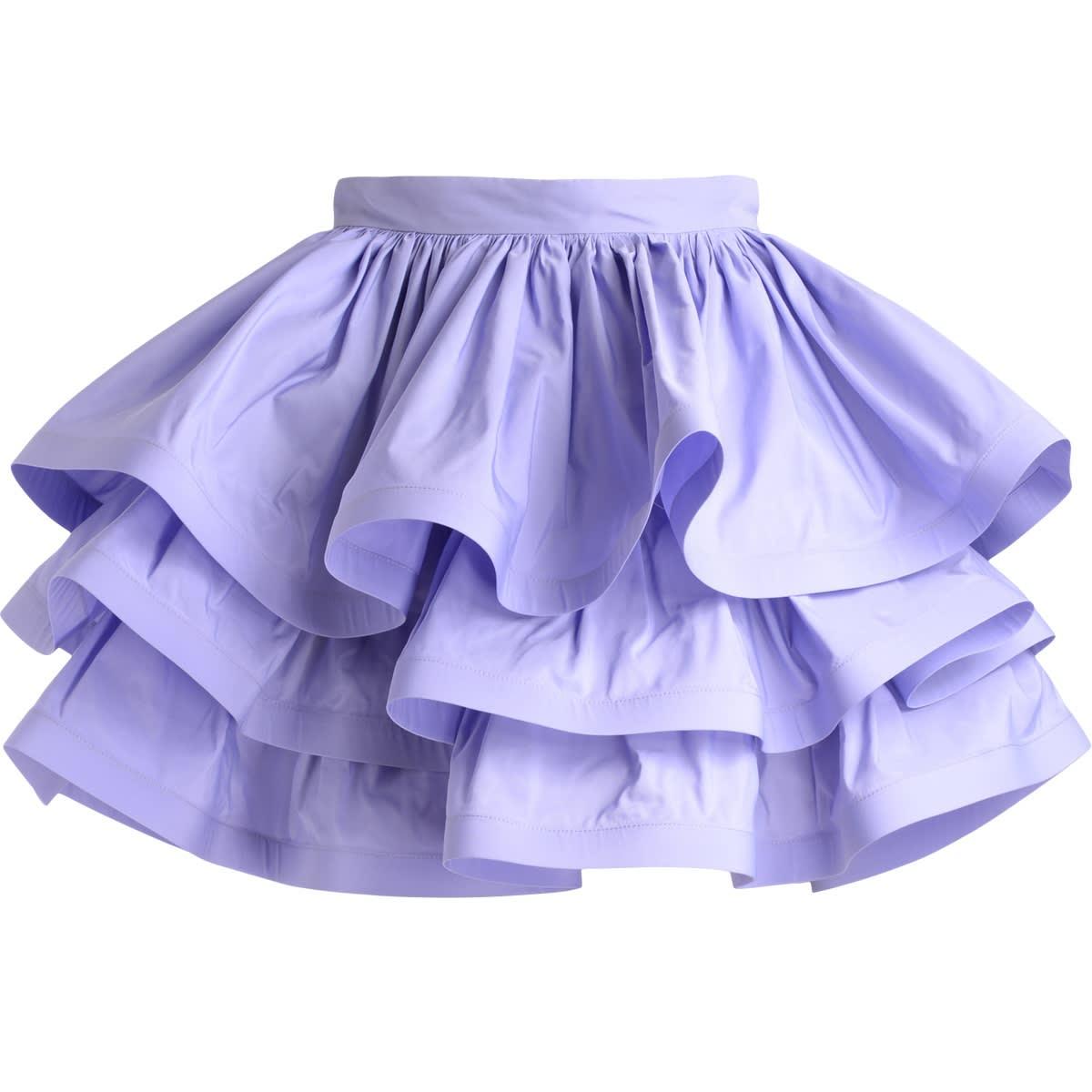 Flounced Skirt Elisabetta Franchi Lavender