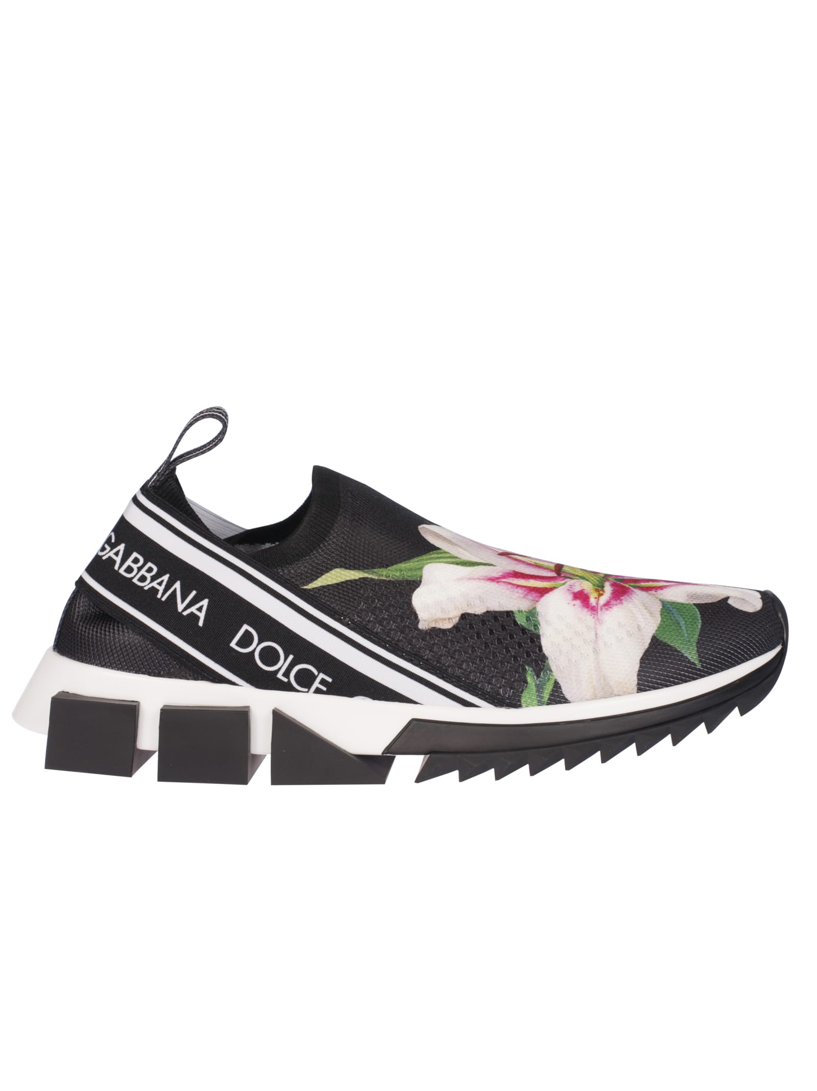super popolare 1e992 6d7f6 Best price on the market at italist | Dolce & Gabbana Dolce & Gabbana  Floral Slip-on Sneakers