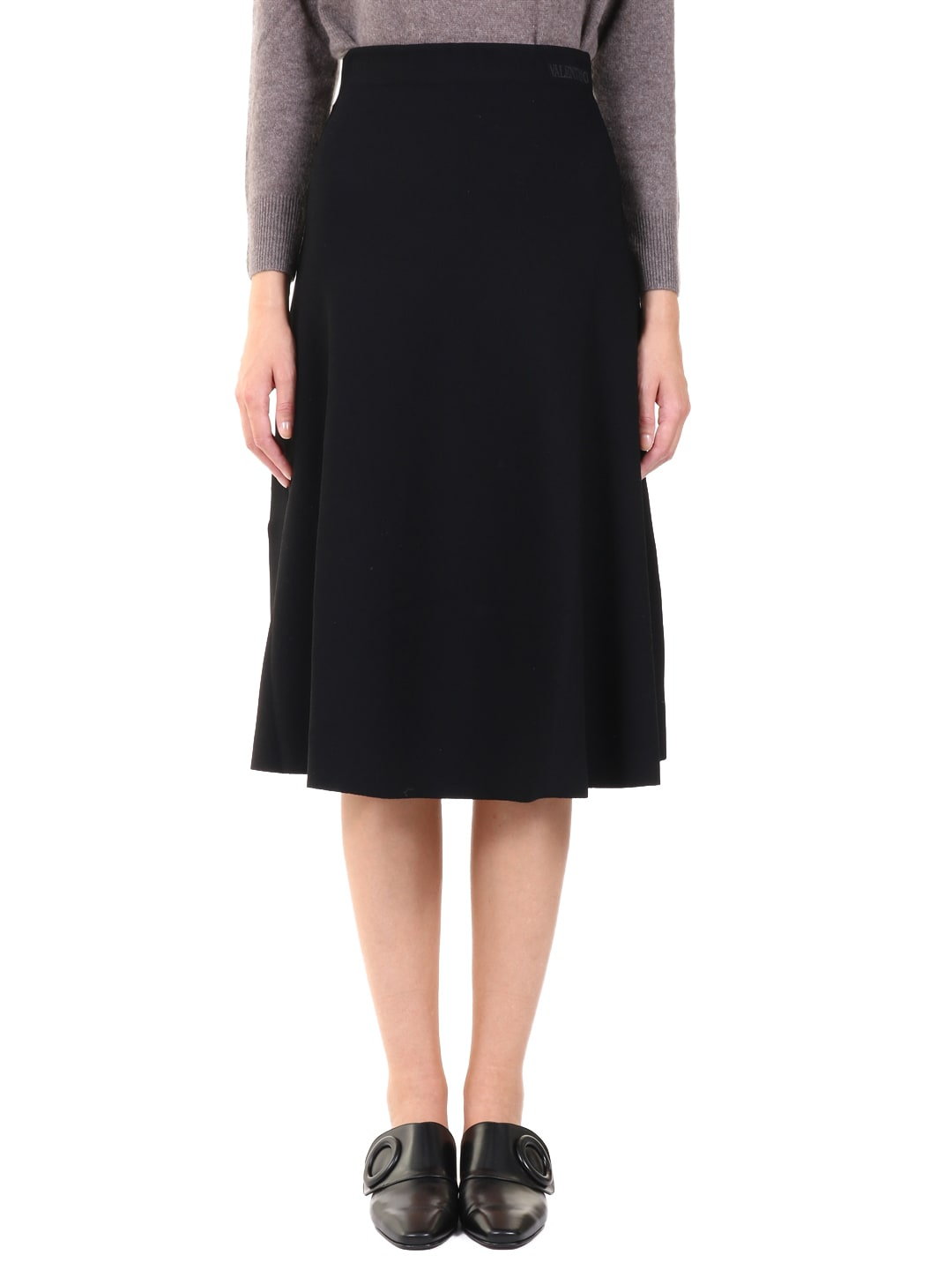 Valentino Midi Skirt Black