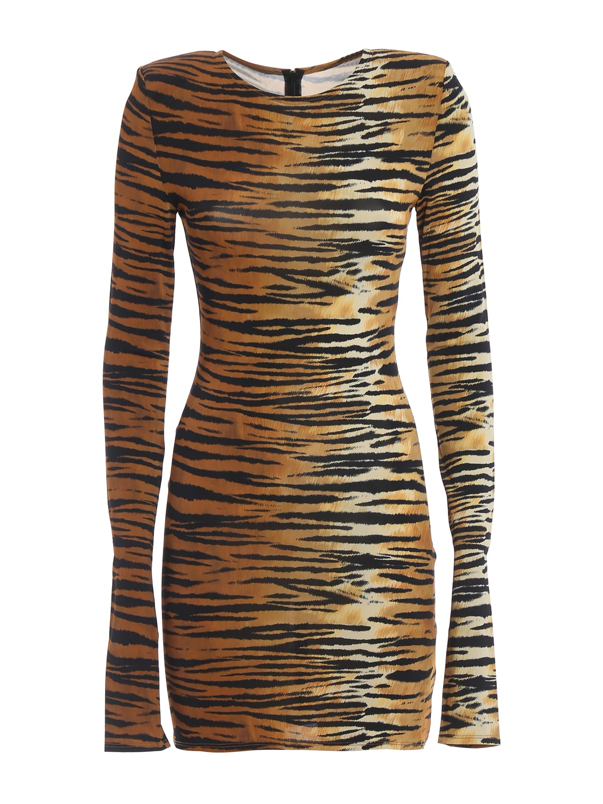 Alexandre Vauthier Animal Print Viscose Blend Dress