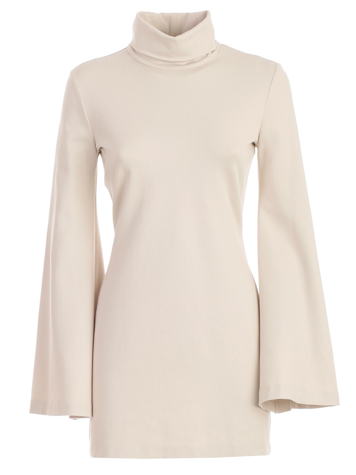Sara Battaglia Dress L & s High Neck Pencil Jersey