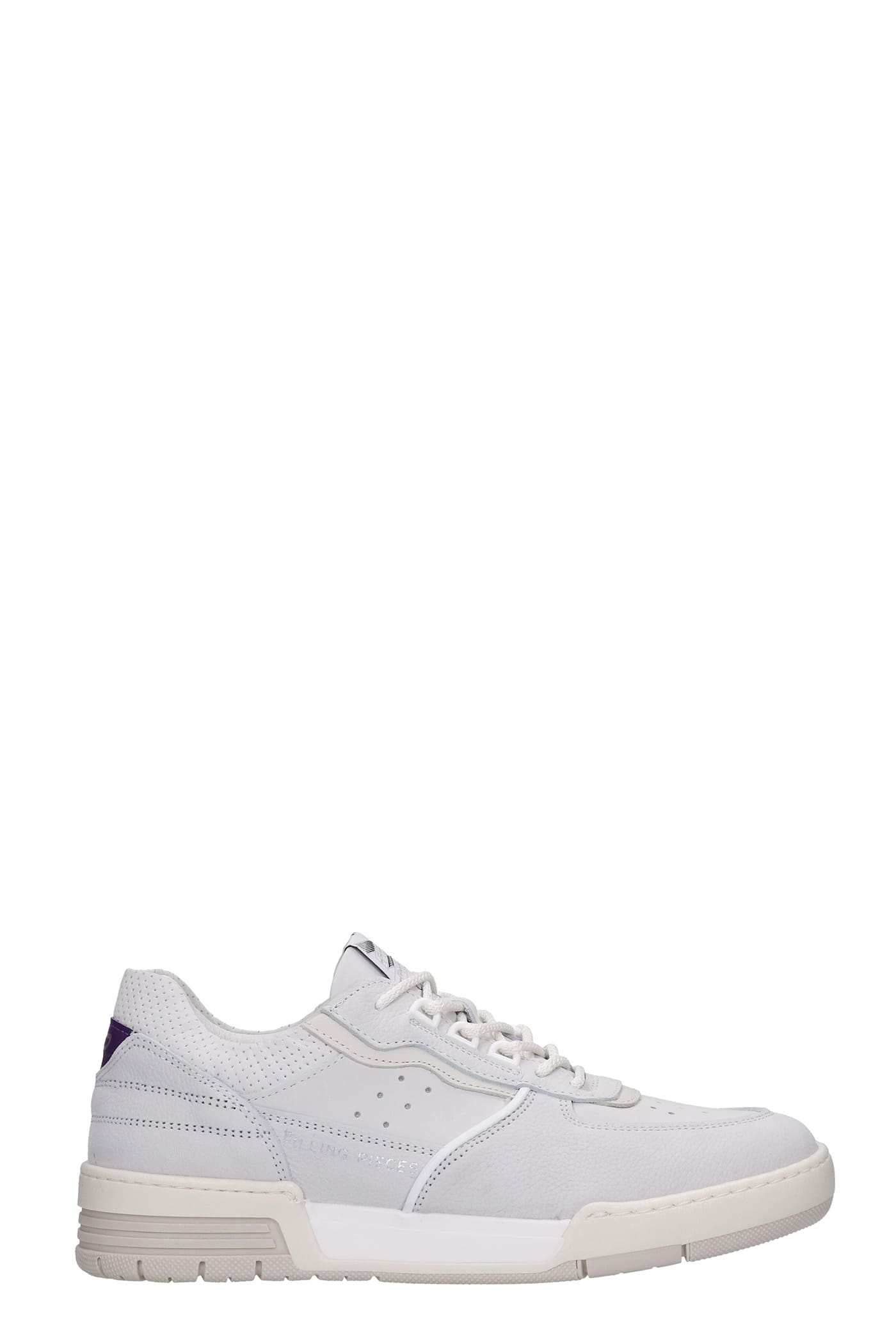 Curb Era Sneakers In White Leather