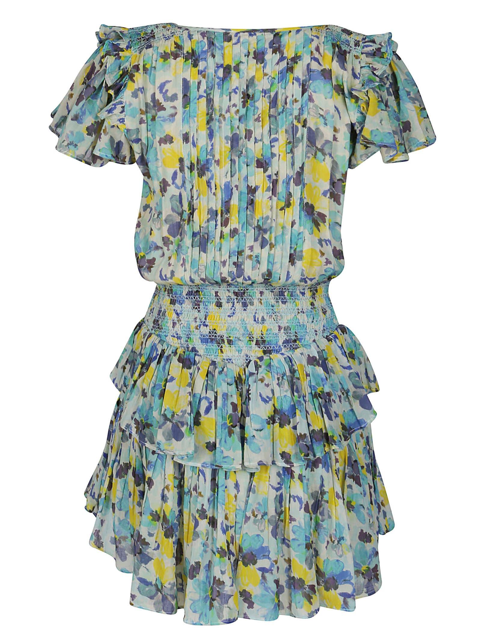 Loveshackfancy Cottons MULTICOLOR COTTON AUDETTE DRESS