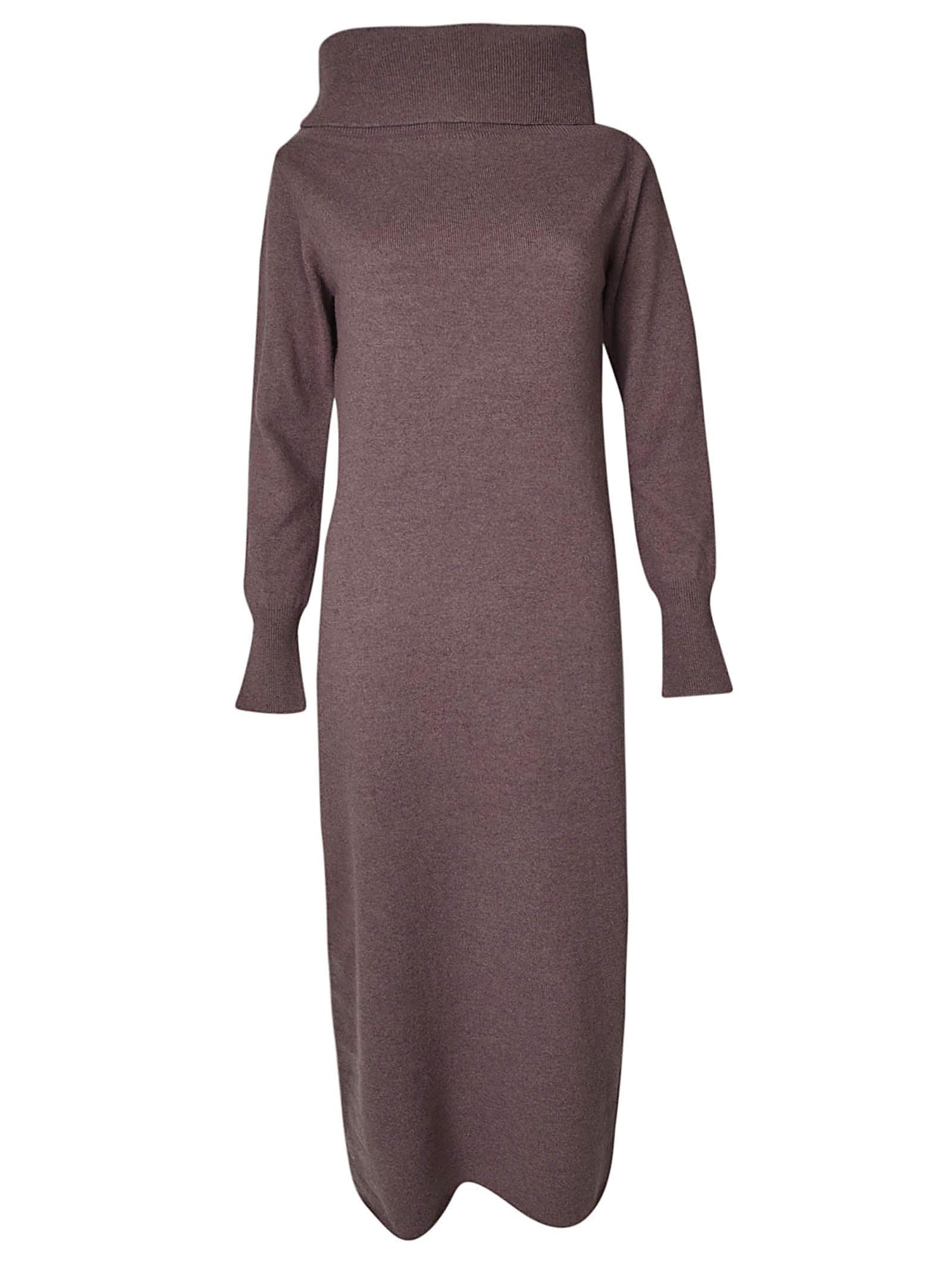 Photo of  Fabiana Filippi Funnel Neck Long Dress- shop Fabiana Filippi  online sales
