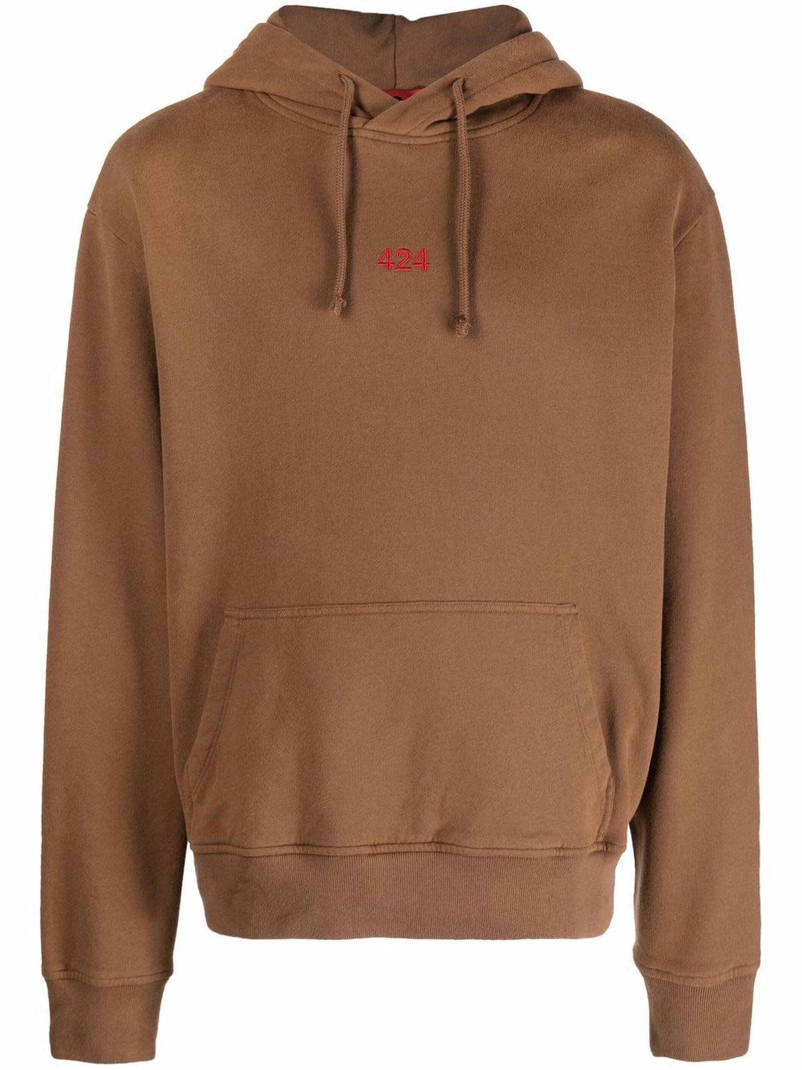 Brown Cotton Hoodie