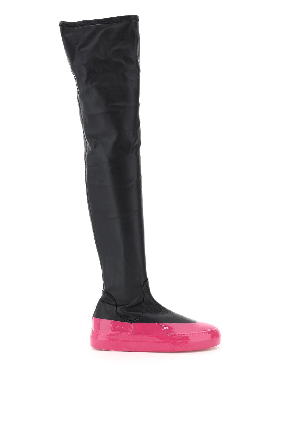 Cuissardes Eco-leather Stretch Boots