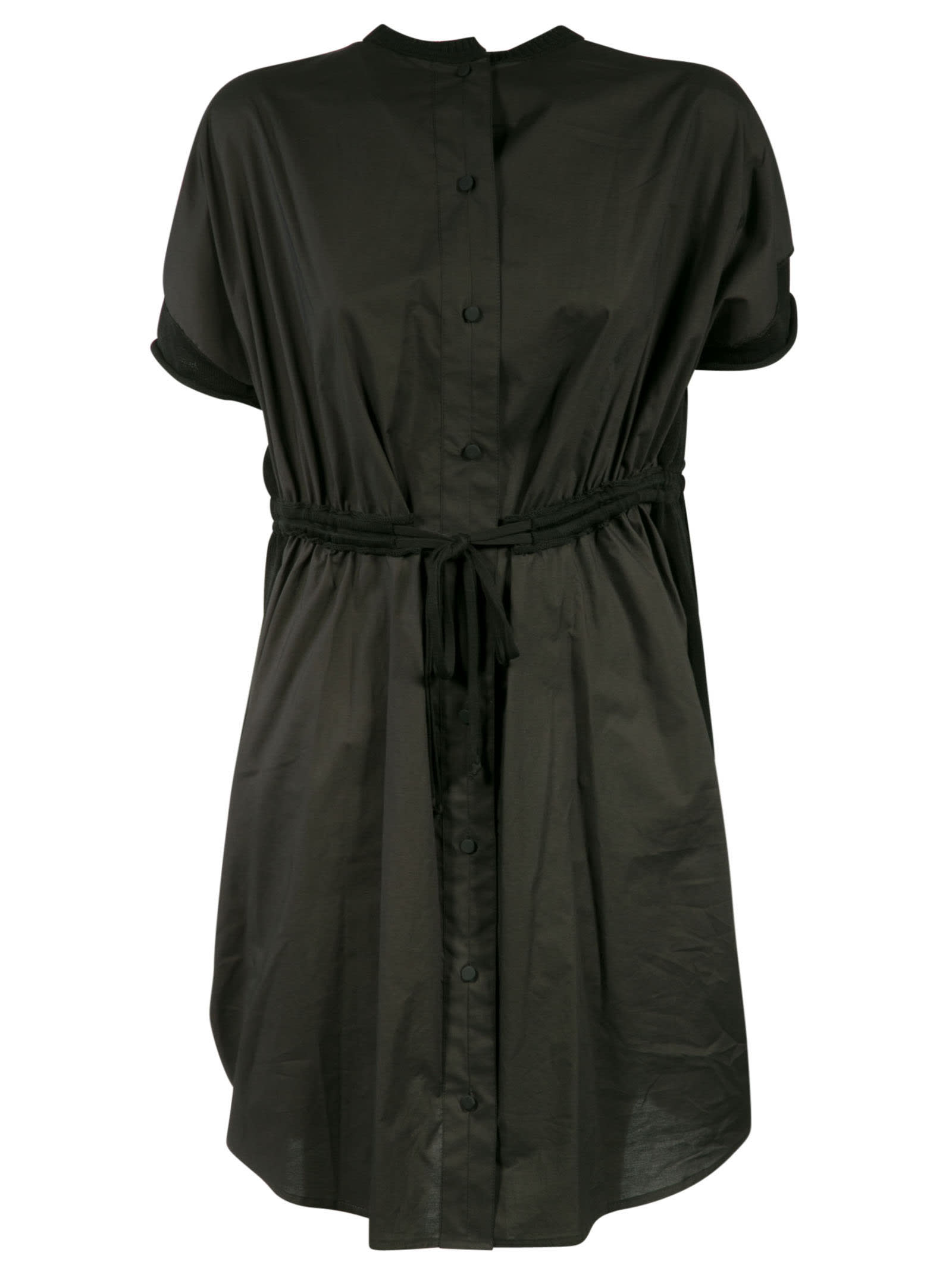 Belt-waist Tie Dress