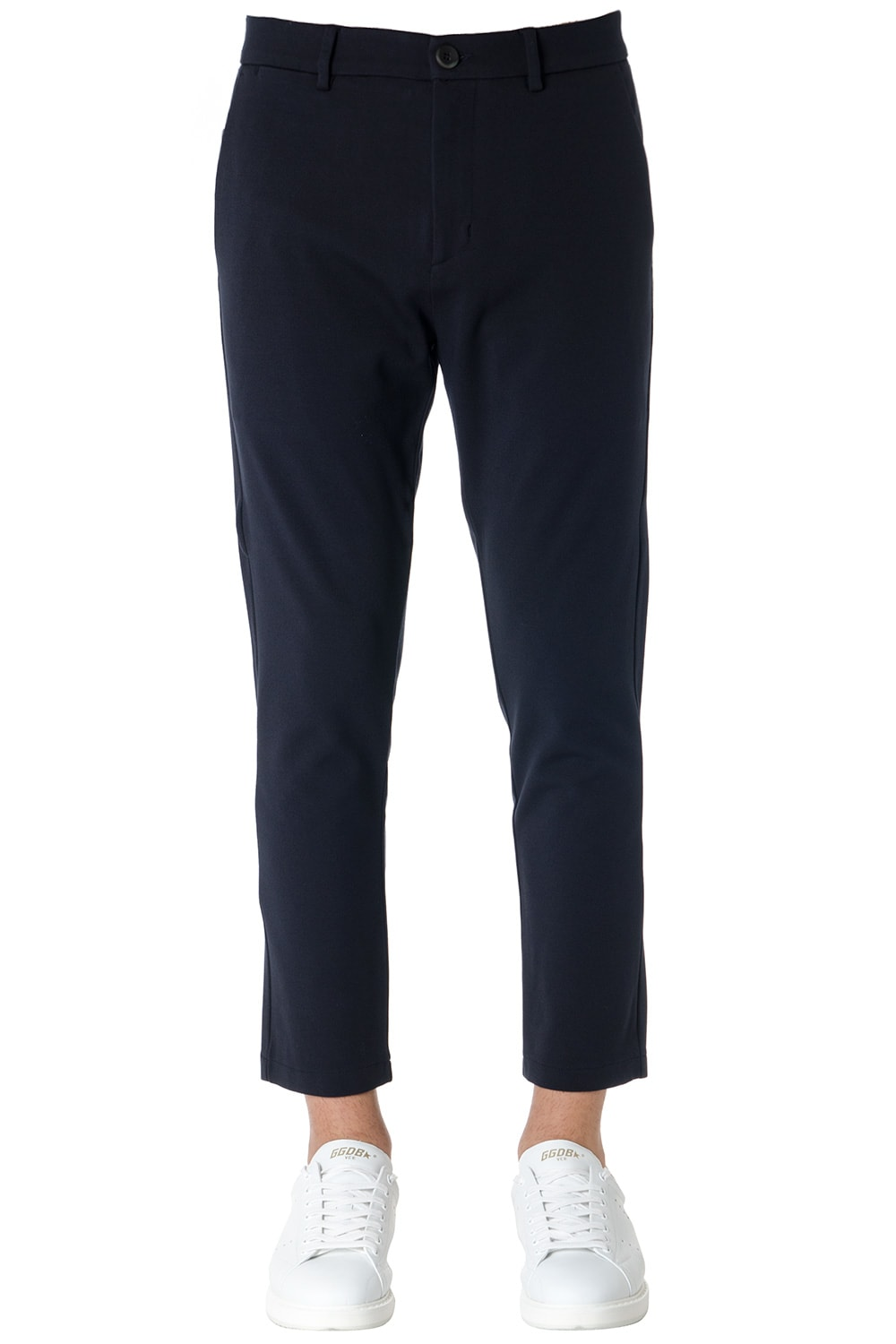 Low Brand Slim Fit Navy Trousers