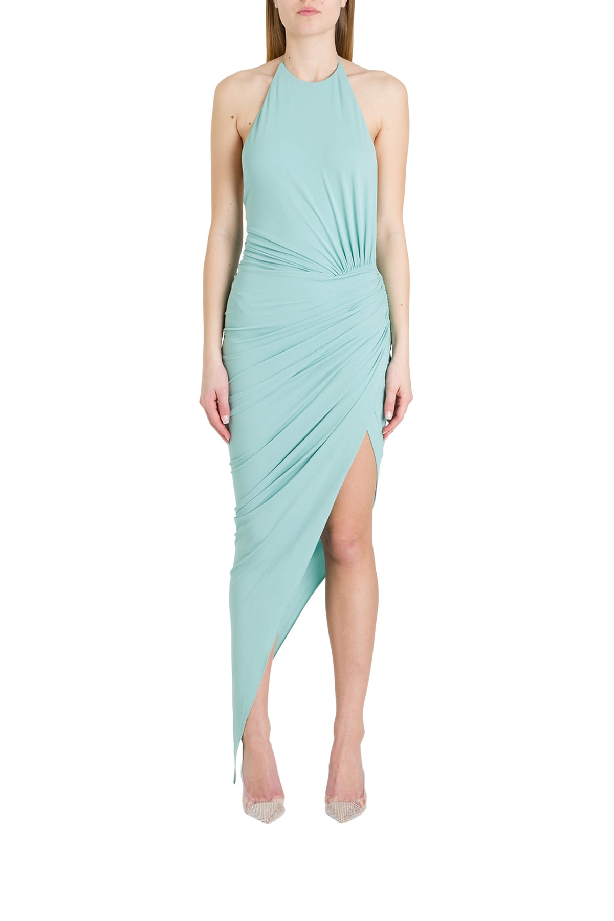 Buy Alexandre Vauthier Draped Jersey Dress online, shop Alexandre Vauthier with free shipping