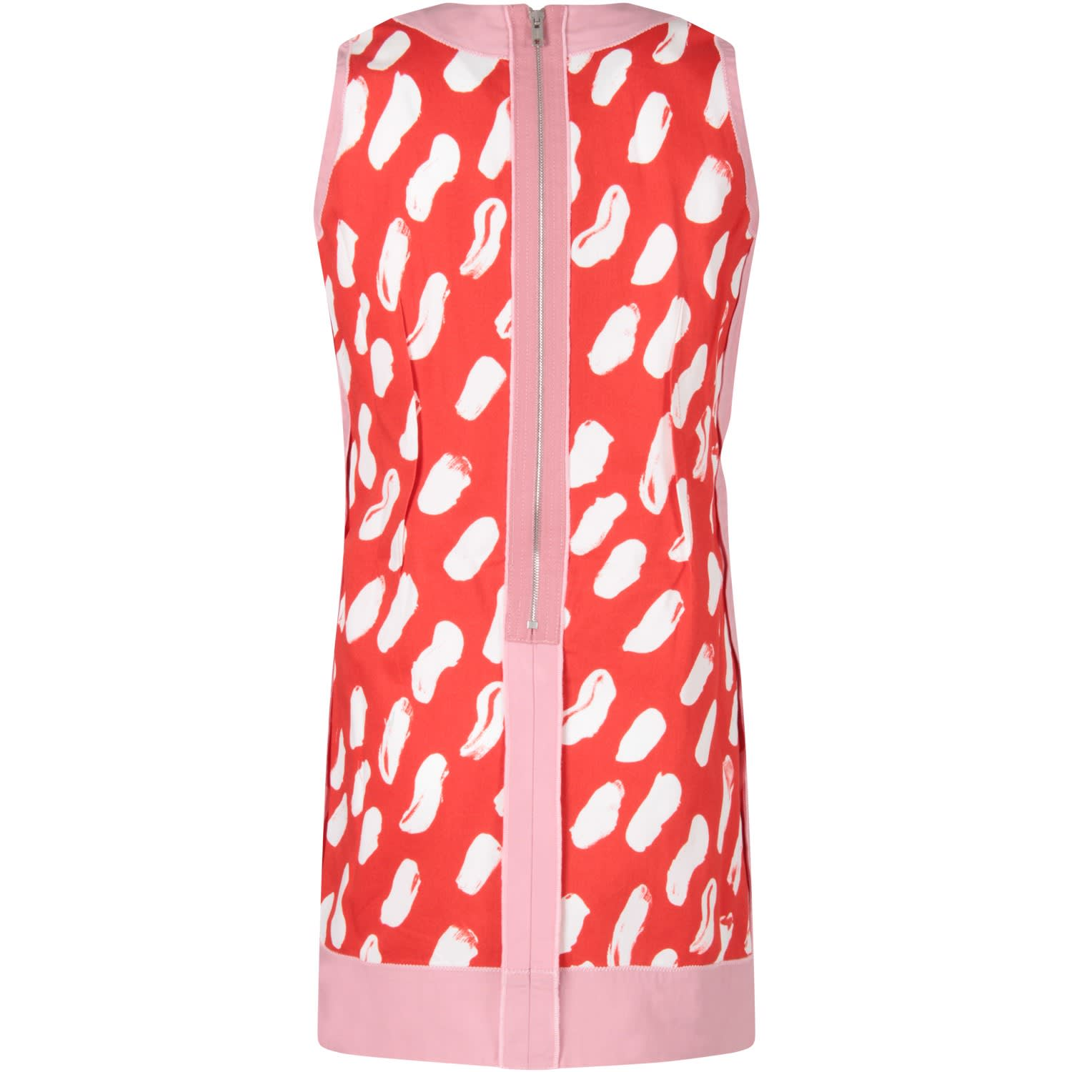 Buy Marni Red Girl Dress With White Spots online, shop Marni with free shipping