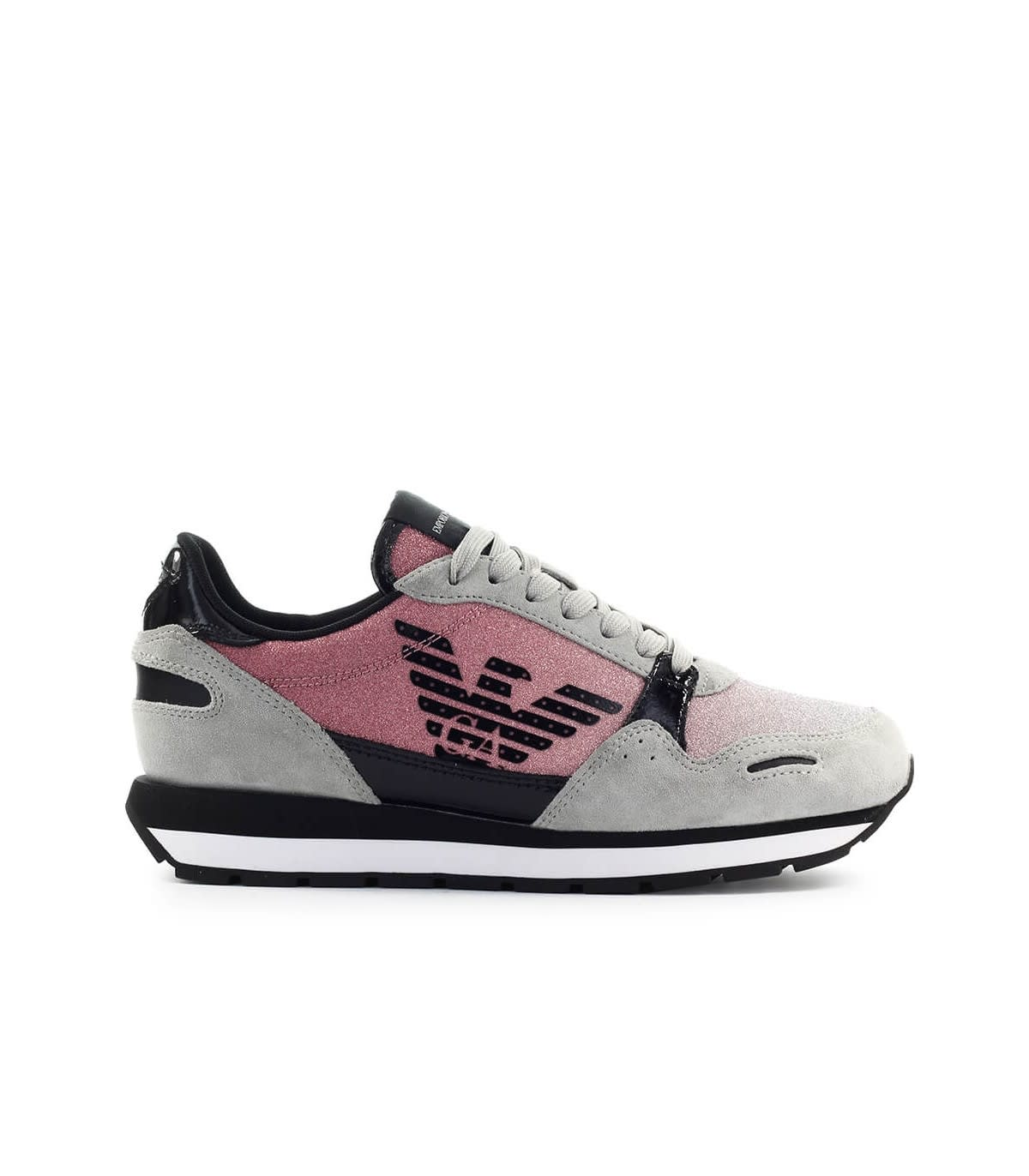 Emporio Armani Pink Glitter Sneaker