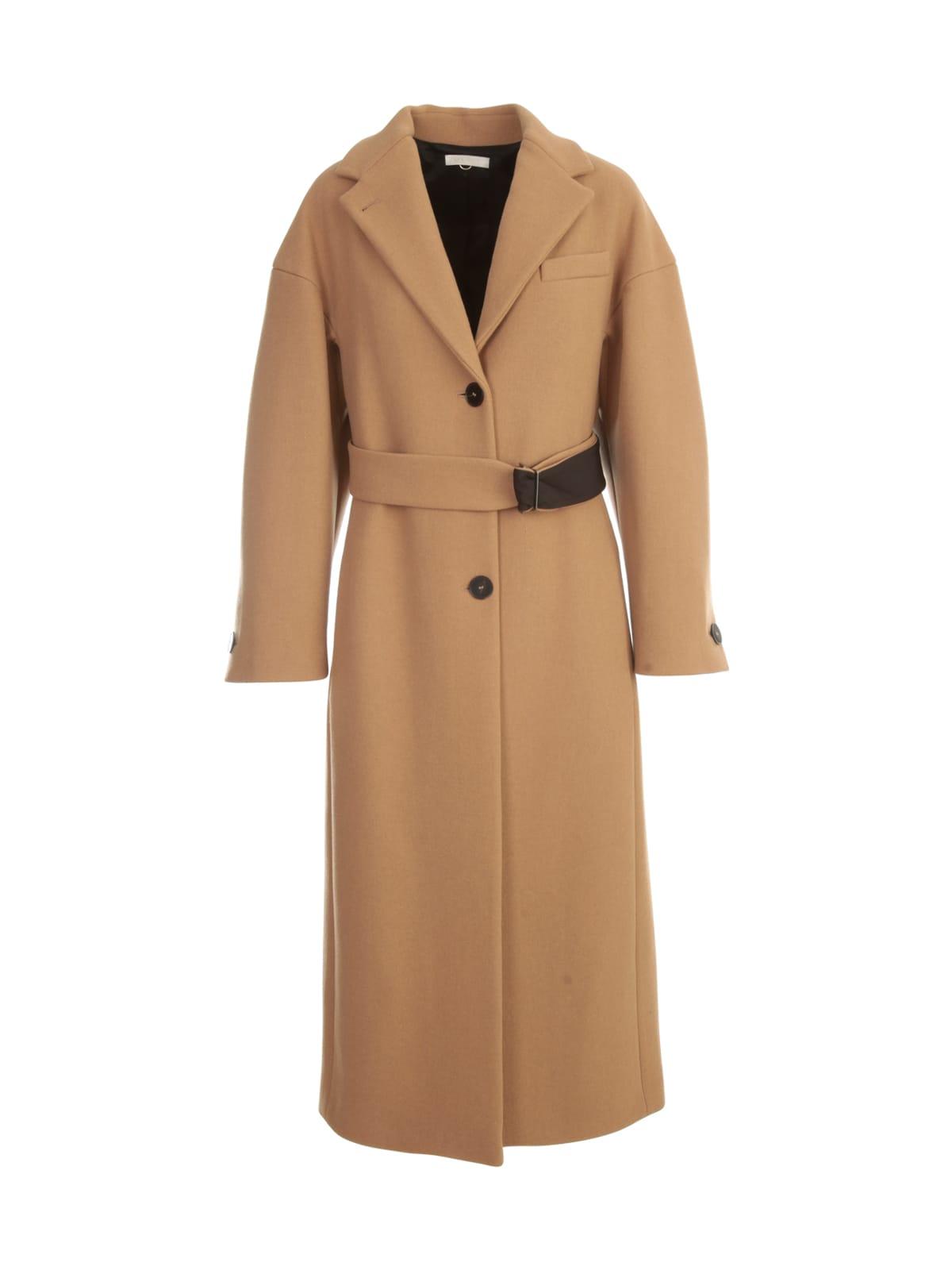 Long Single Breasted Coat W/belt