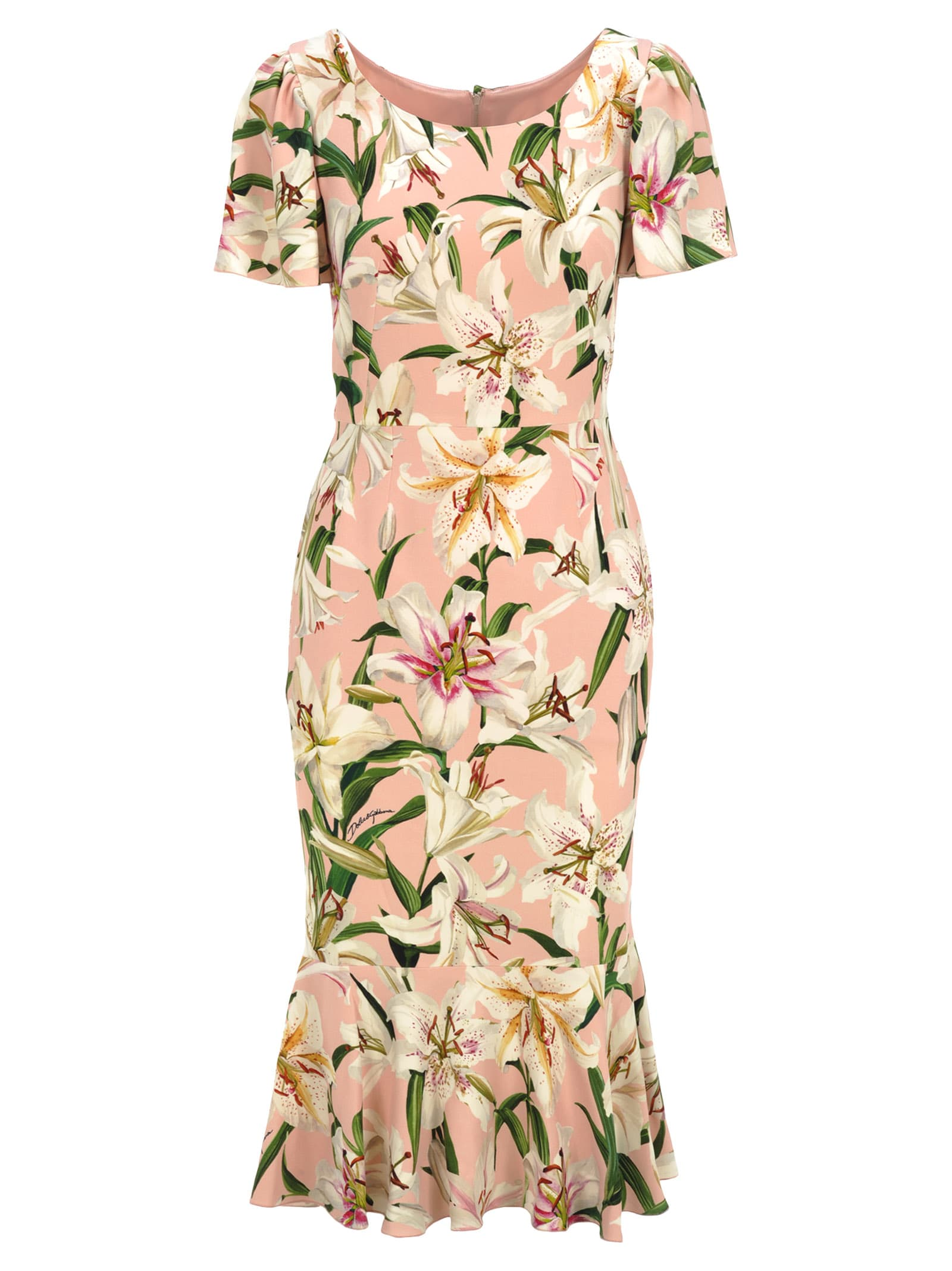 Dolce & gabbana Lilium Print Dress