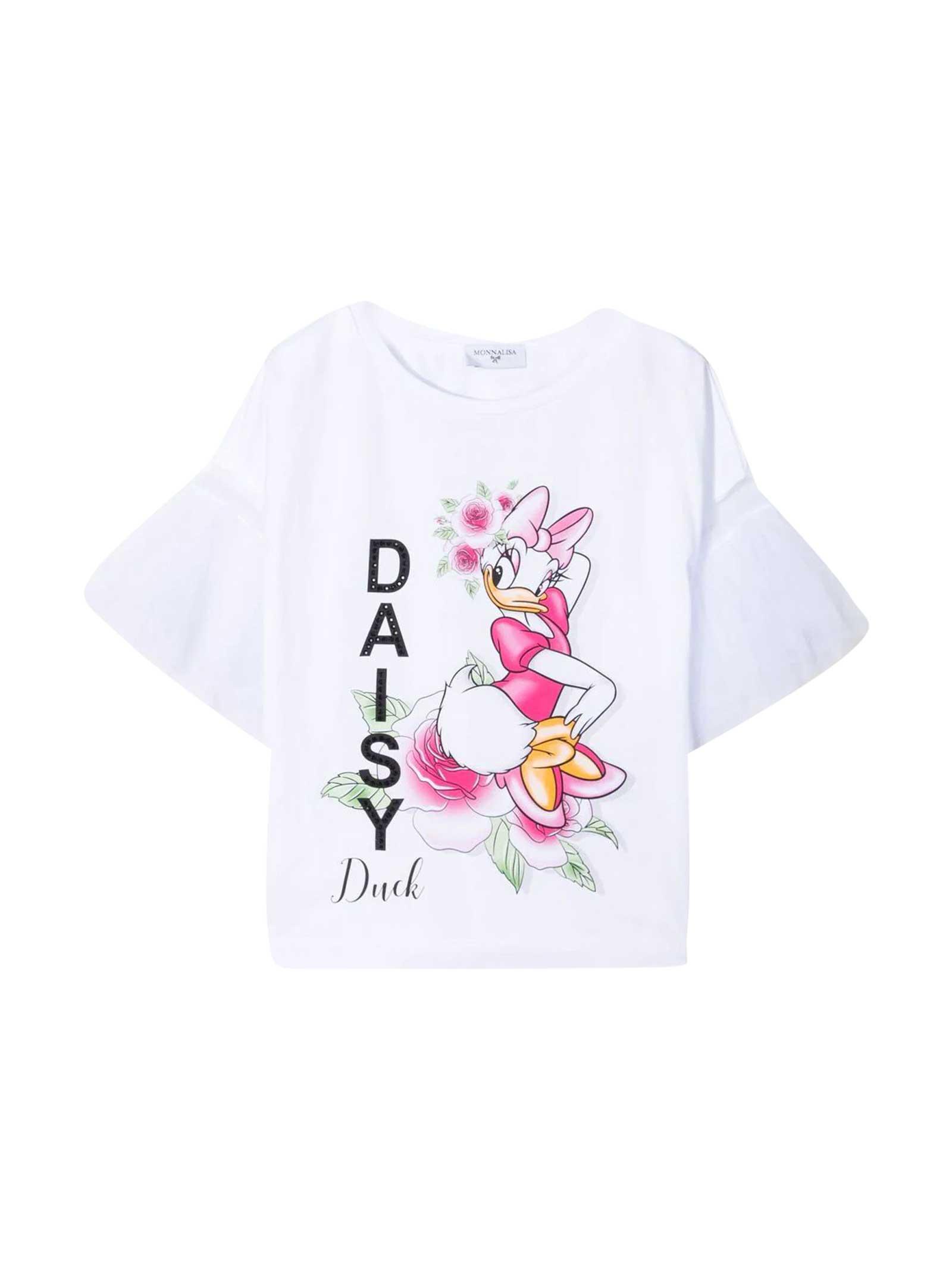 Monnalisa DAISY DUCK T-SHIRT WITH PRINT