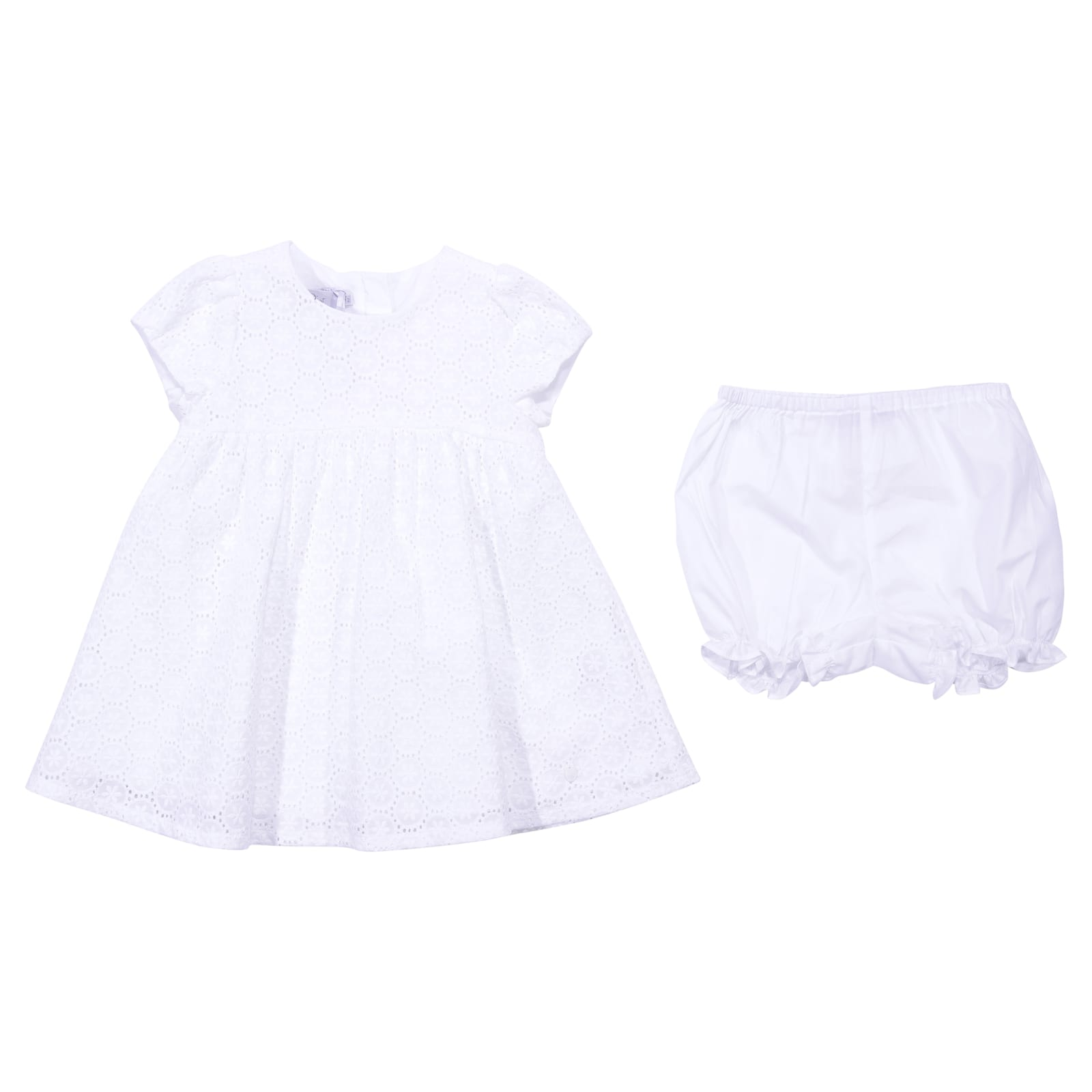 Photo of  Baby Dior White Broiderie Anglaise Dress & Diaper Cover- shop Baby Dior  online sales
