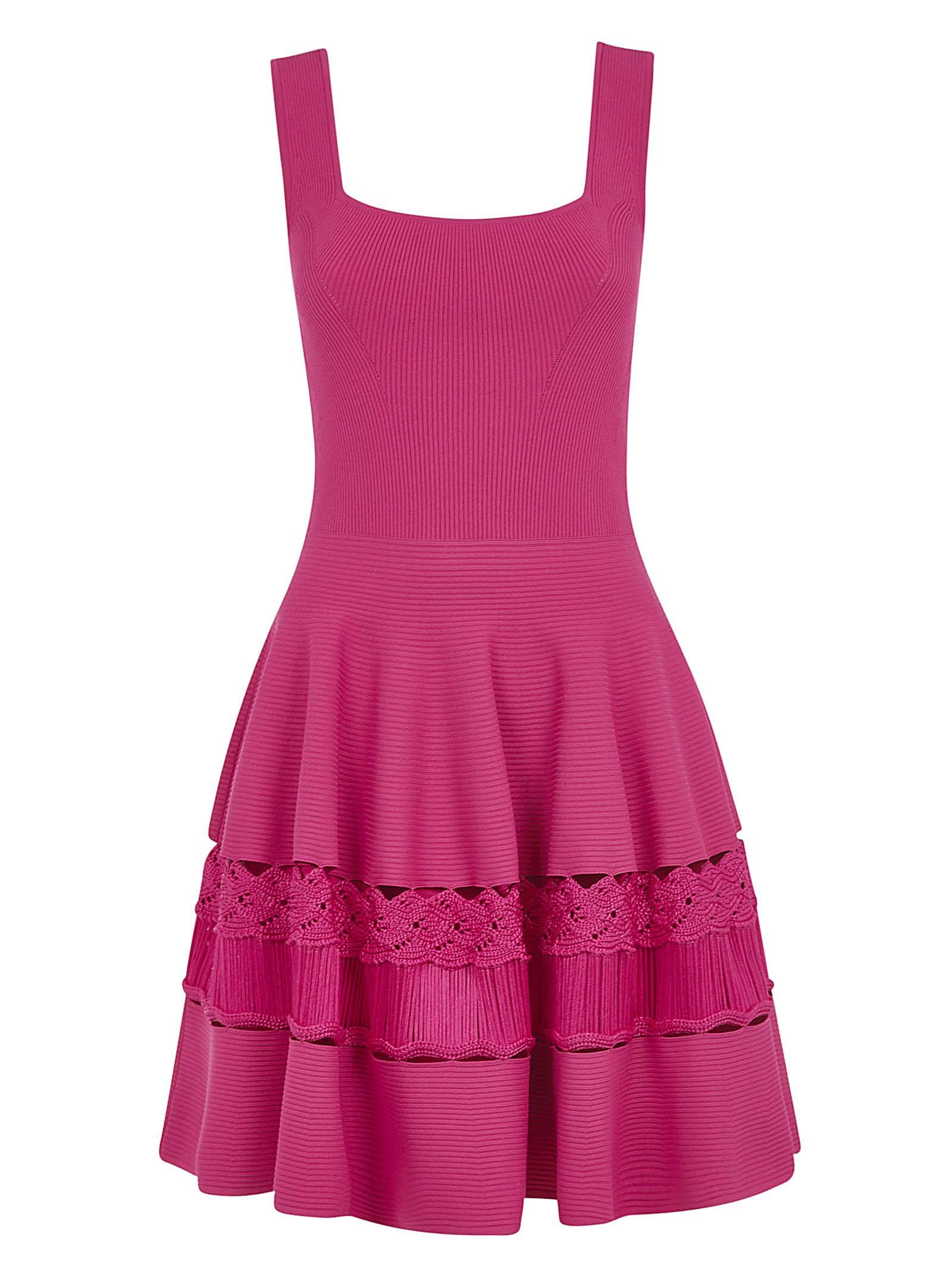 Buy Alexander McQueen Sleeveless Short Ribbed Dress online, shop Alexander McQueen with free shipping