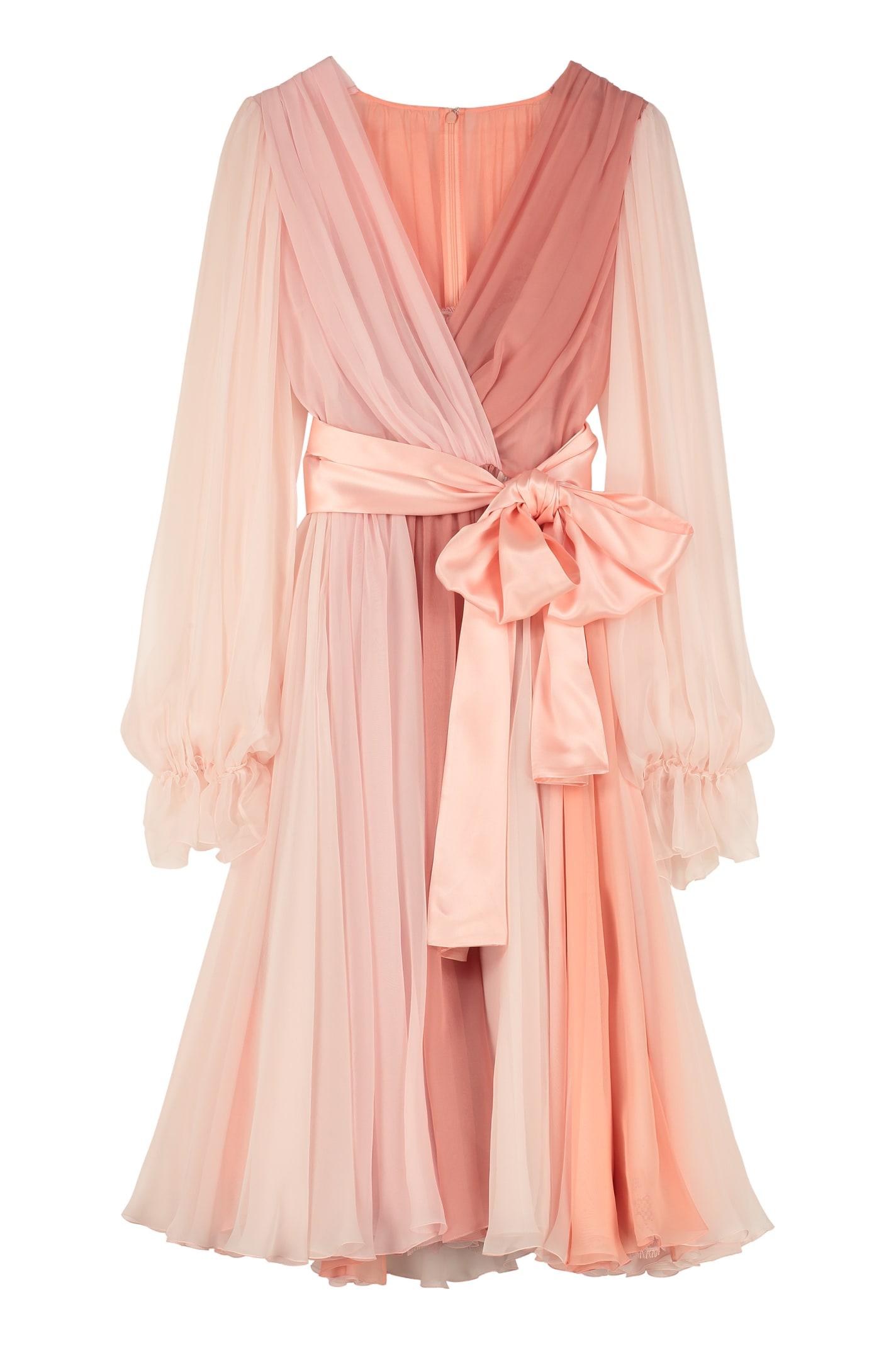 Buy Dolce & Gabbana Chiffon Dress online, shop Dolce & Gabbana with free shipping