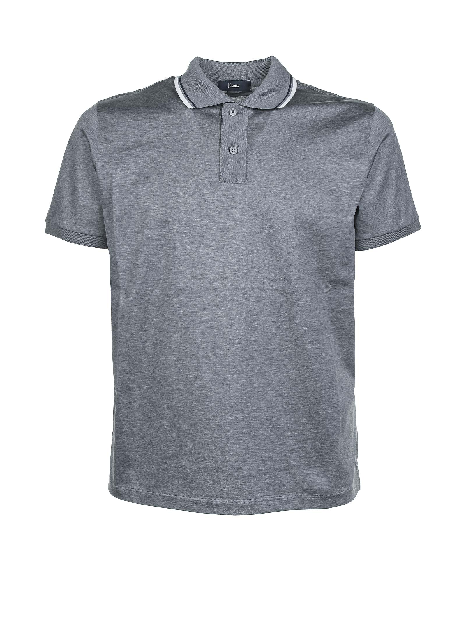 Herno STRIPE TRIMMED COLLAR POLO SHIRT