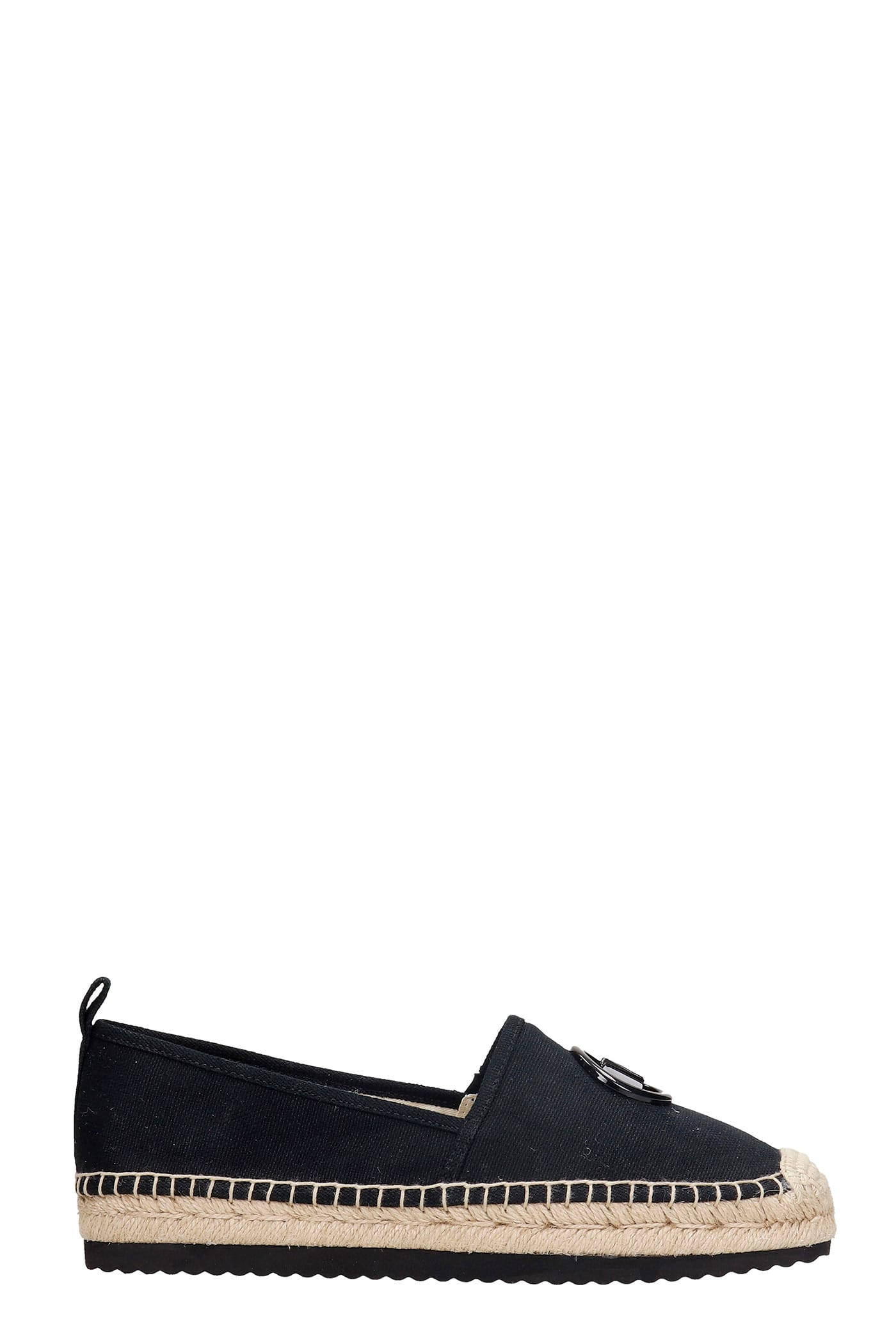 Michael Kors LENNY ESPADRILLES IN BLACK CANVAS