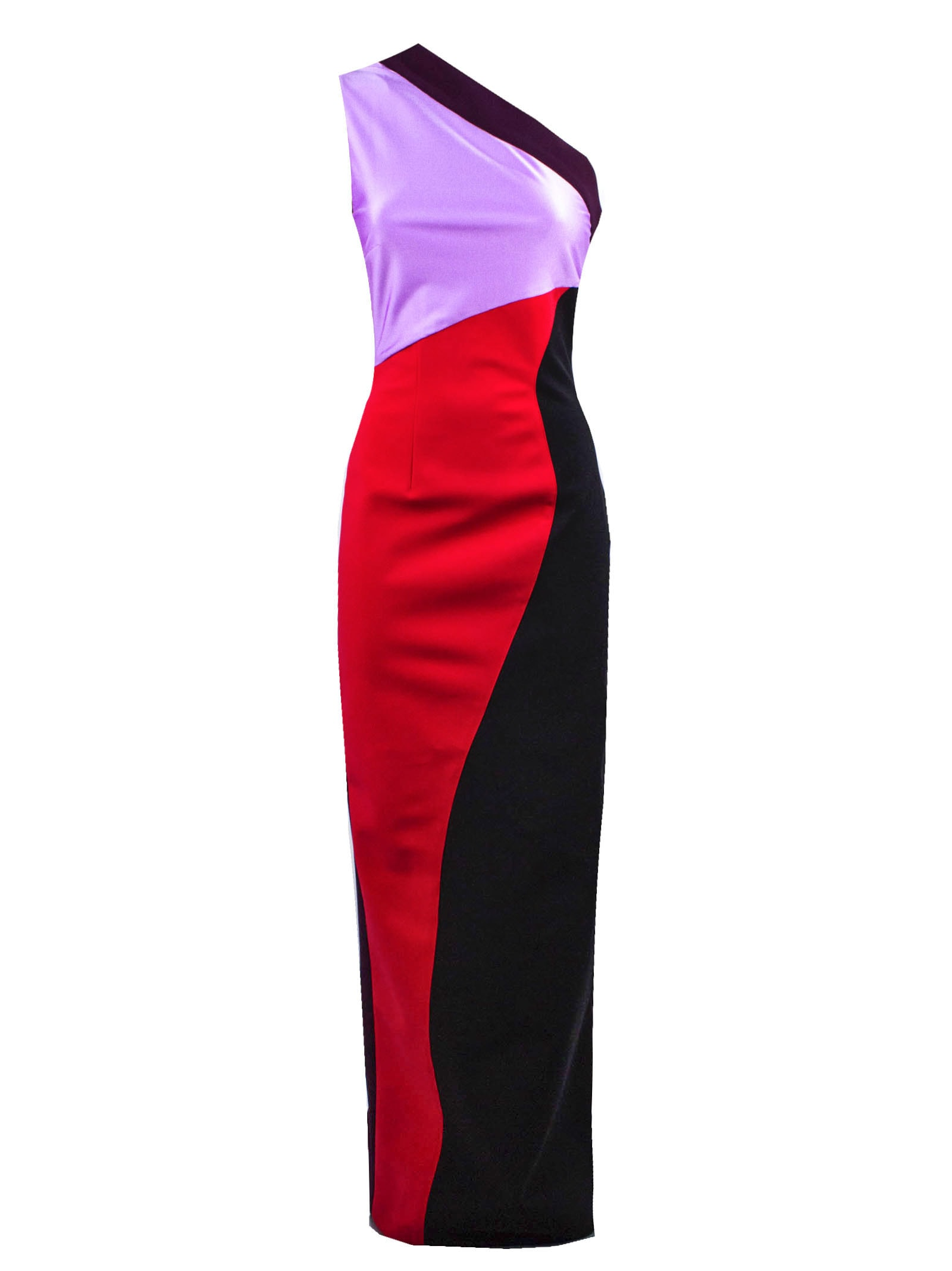 Long One Shoulder Stretch Dress