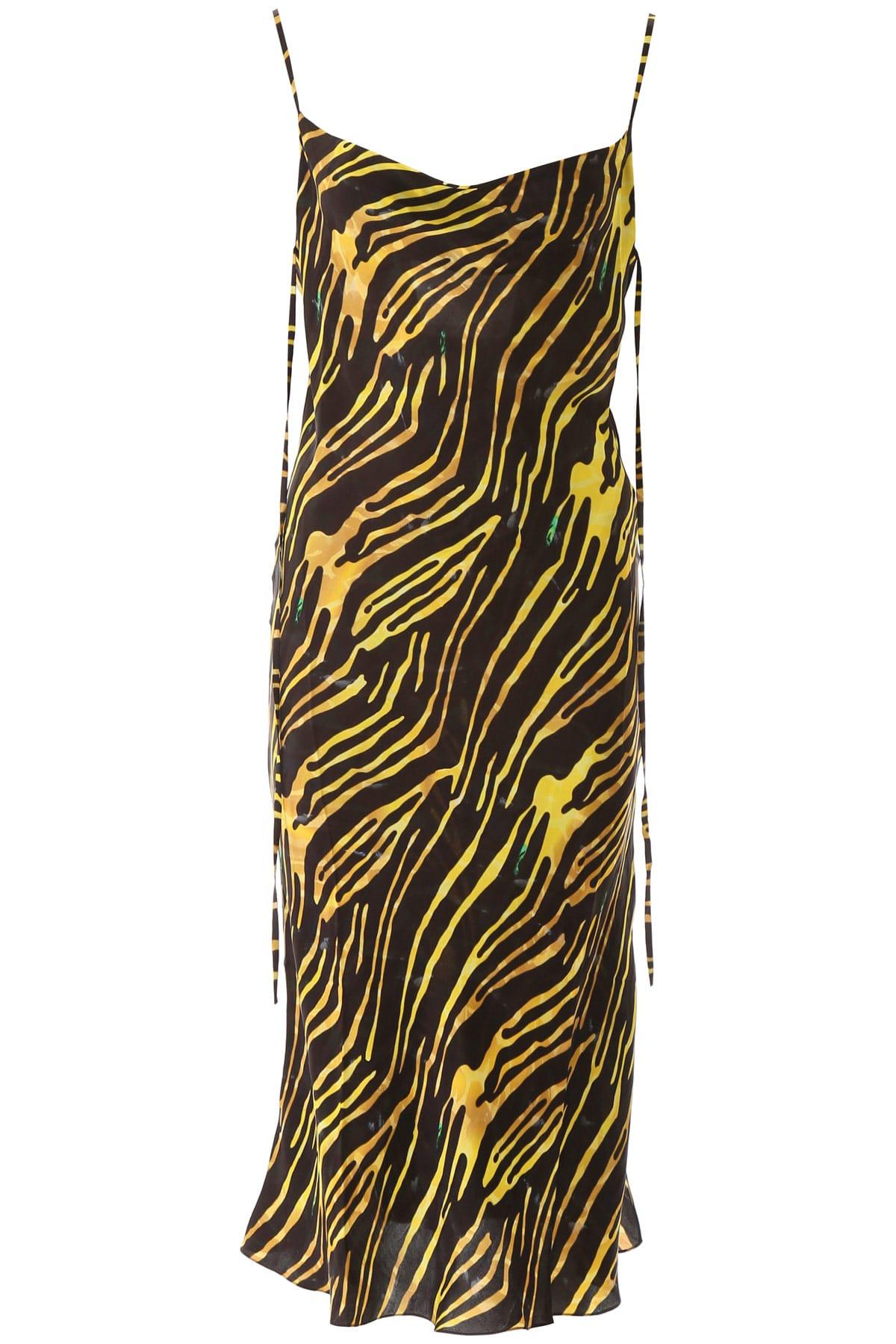 Buy Marine Serre Zebra Print Maxi Dress online, shop Marine Serre with free shipping
