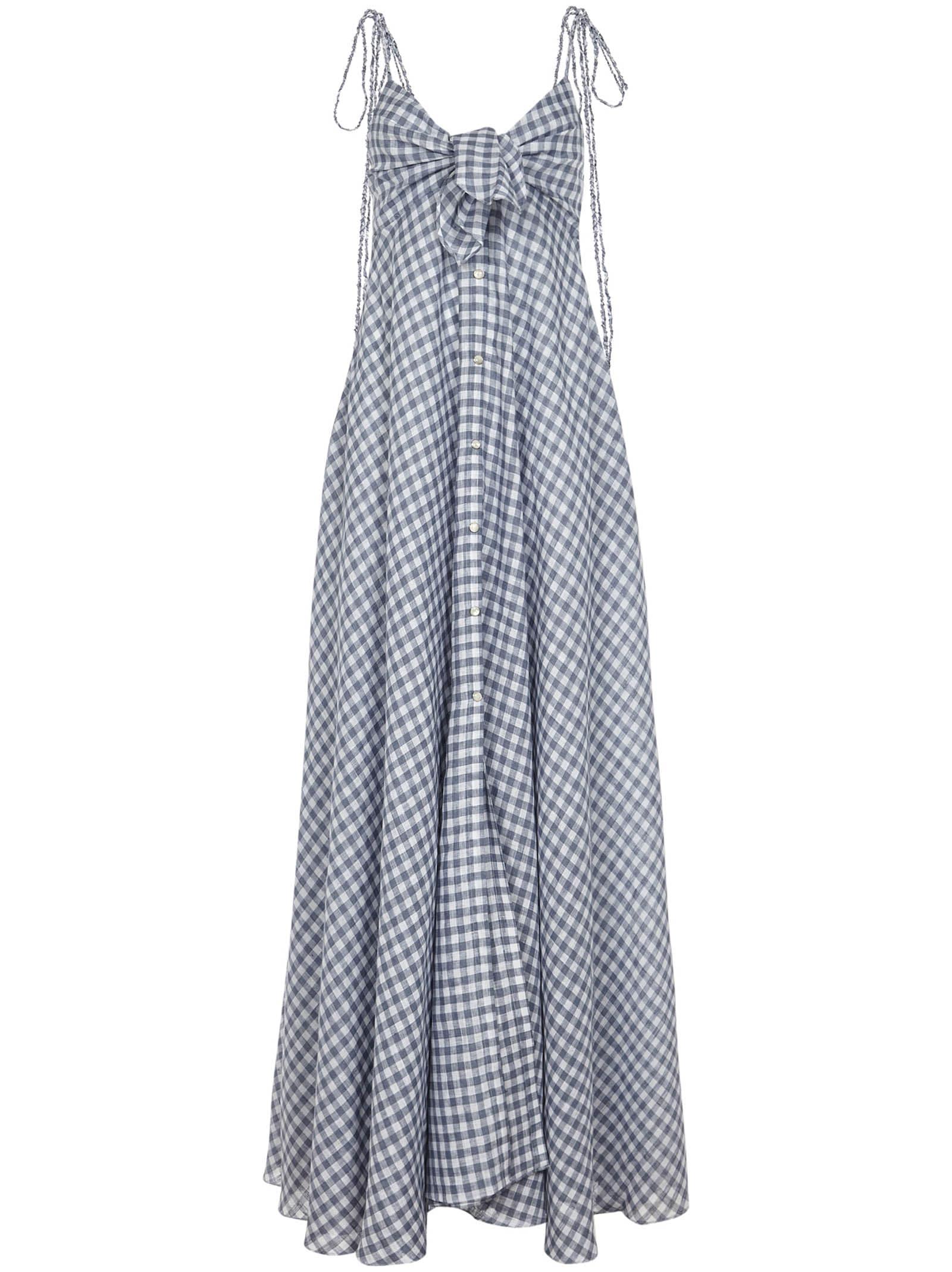 Buy Alanui Dallas Long Dress online, shop Alanui with free shipping