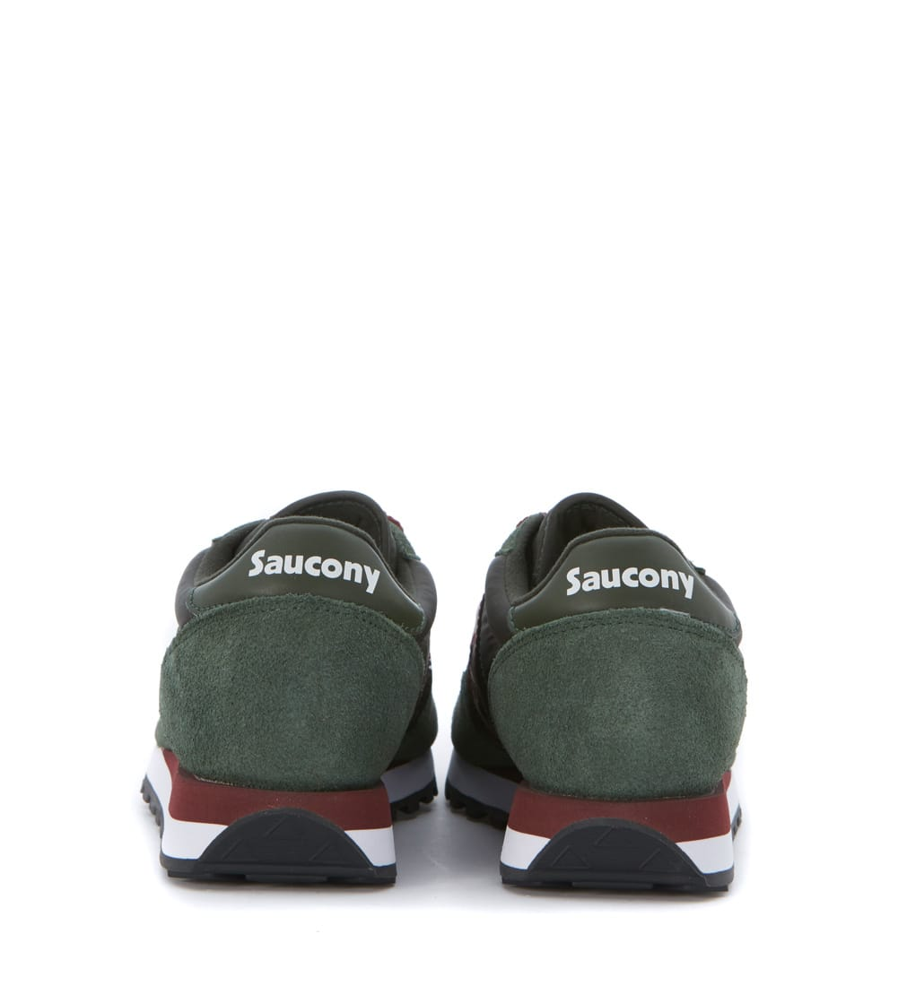 official photos 5f2e3 ee3d5 Sneaker Saucony Jazz In Dark Green Suede And Nylon