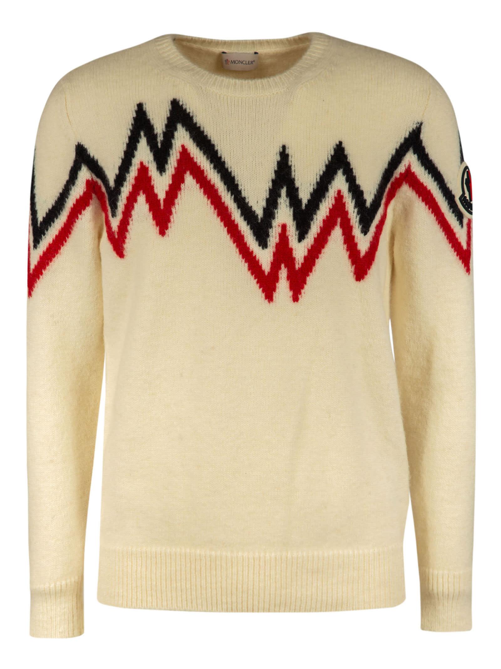Moncler Zig-zag Patterned Sweater