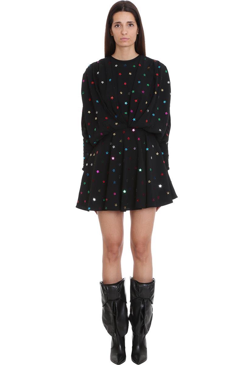 The Attico Dress In Black Tech & synthetic