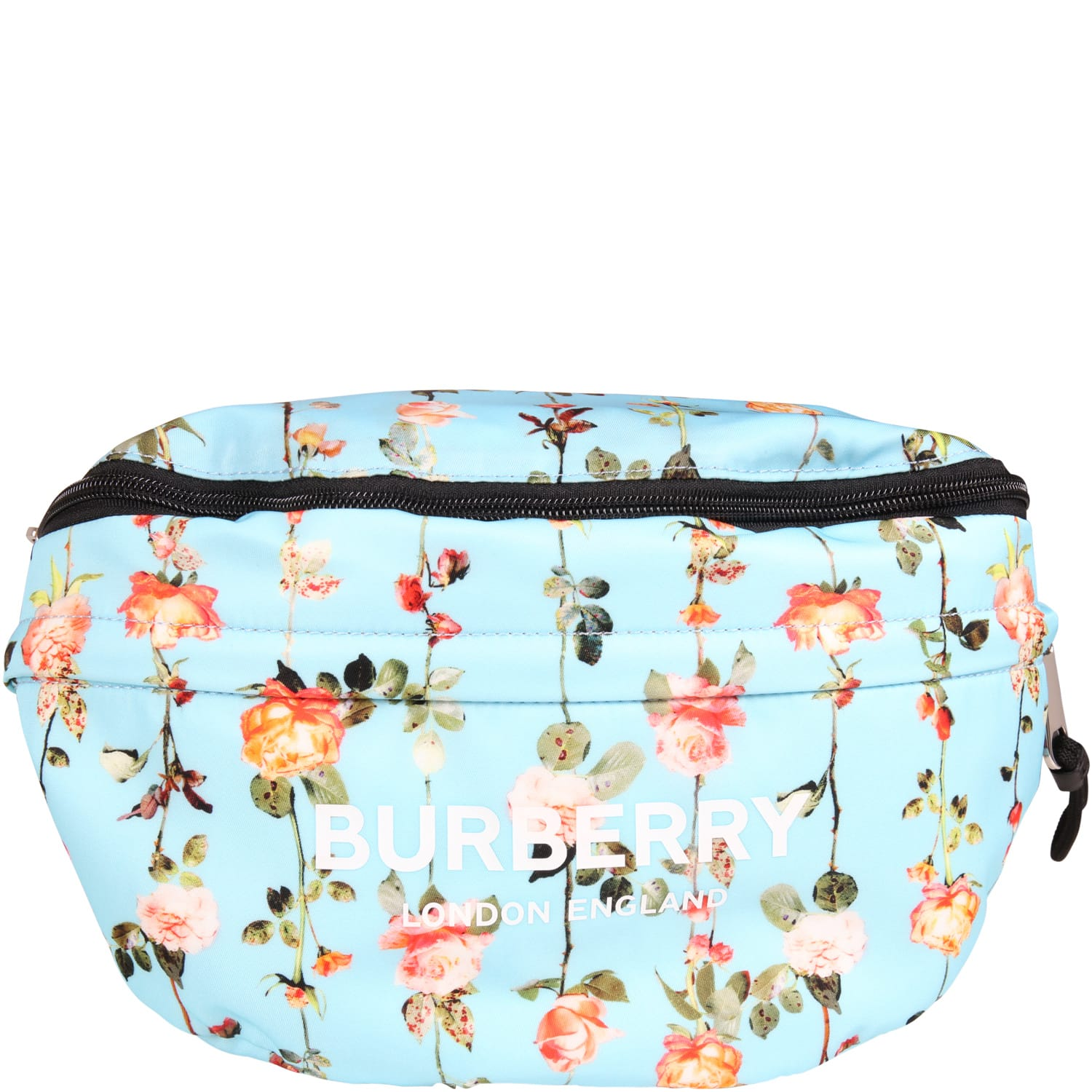 Burberry Light Blue Bum Bag For Girl With Flowers