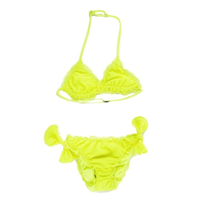 Yellow Fluo Tulle Girls Bikini #sheerstulle