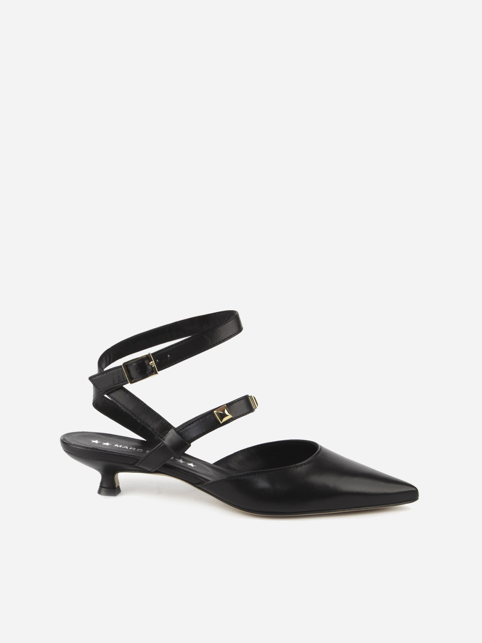 Aria Slingback In Leather With Studs